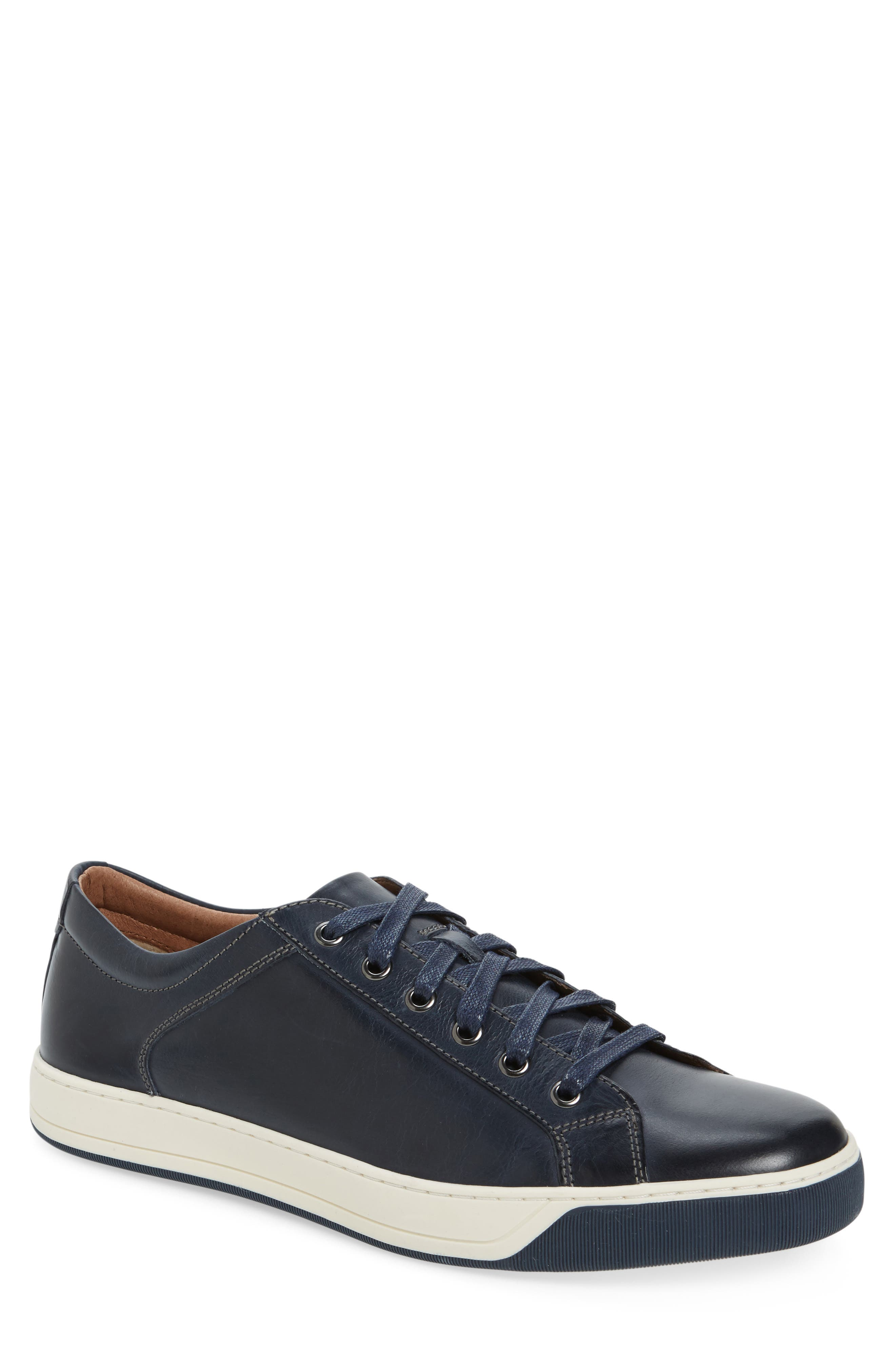 J&M 1850,                             Allister Sneaker,                             Main thumbnail 1, color,                             NAVY/ NAVY LEATHER