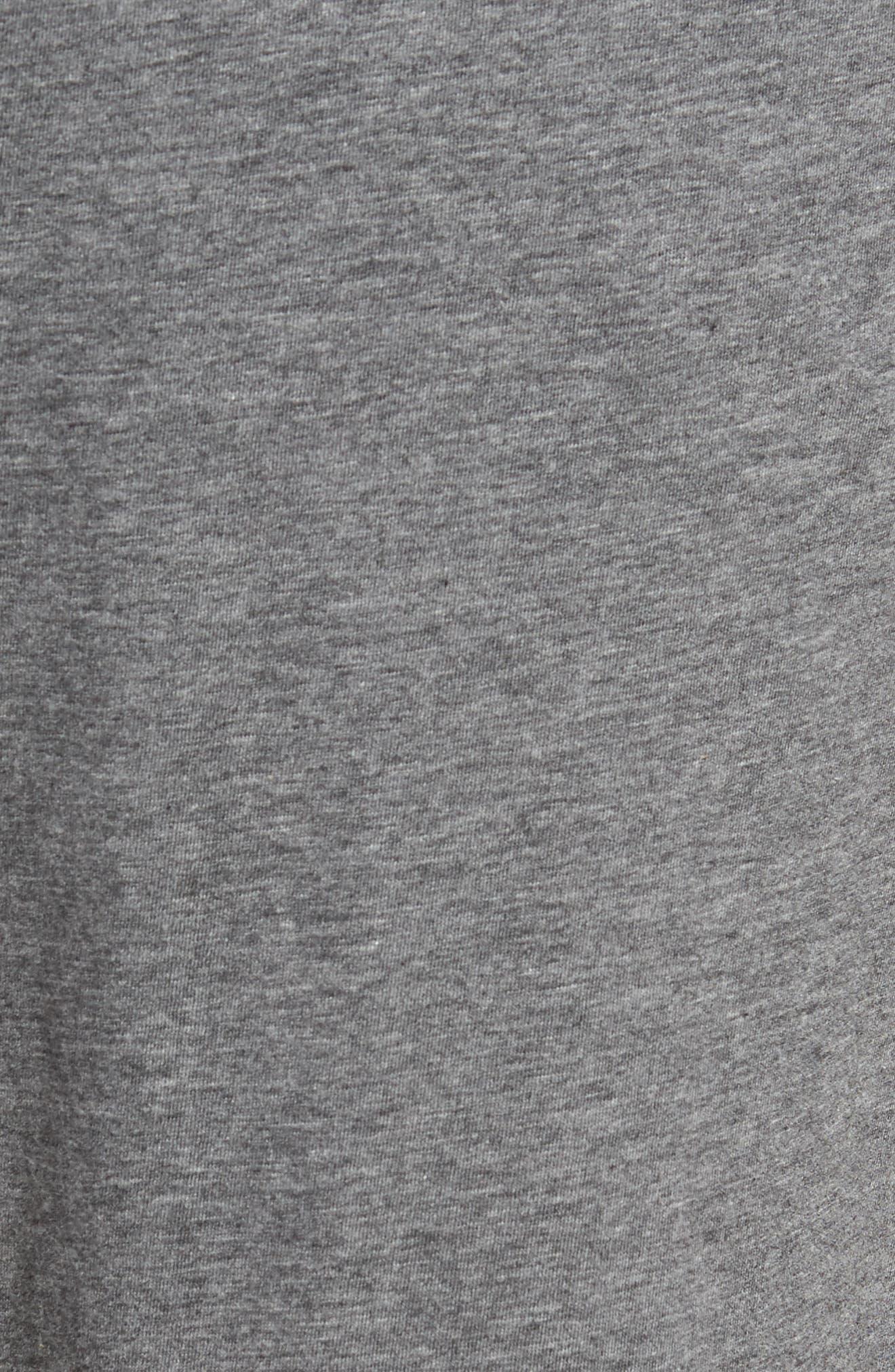 Peruvian Pima Lightweight Cotton Lounge Pants,                             Alternate thumbnail 5, color,                             CHARCOAL HEATHER