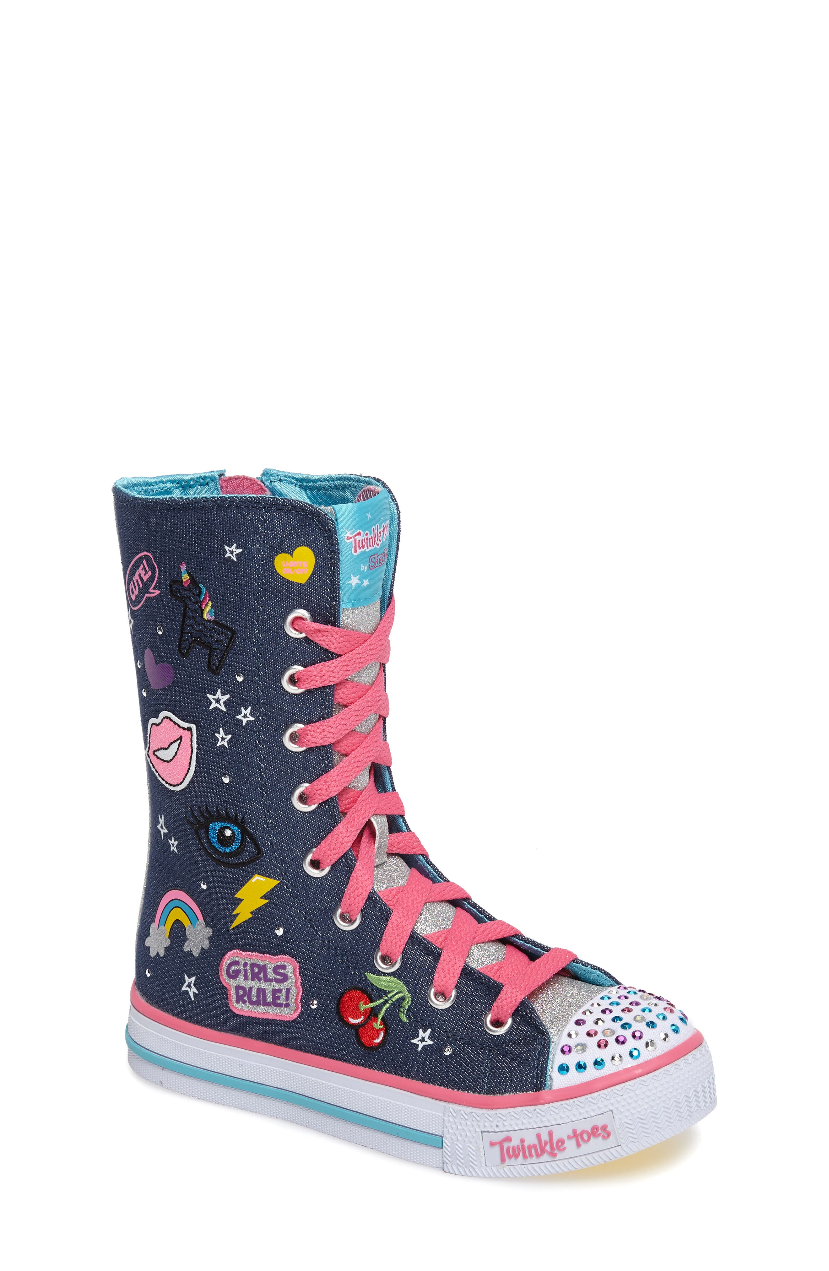 Twinkle Toes Shuffles Ultra High Top Sneaker,                             Main thumbnail 1, color,                             468