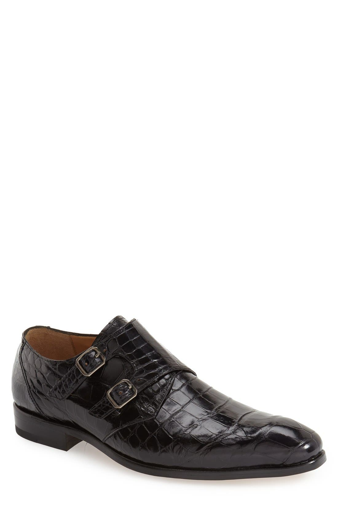 'Agra' Double Monk Strap Shoe,                             Main thumbnail 1, color,