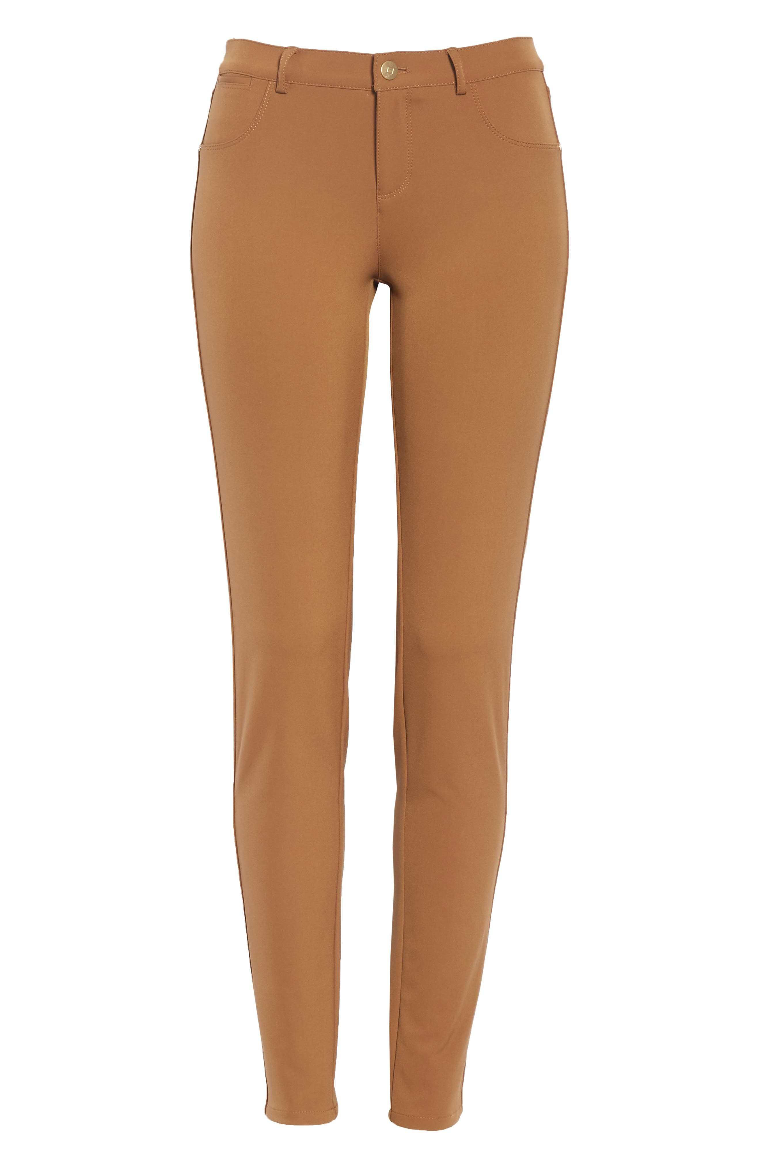 Mercer Acclaimed Stretch Skinny Pants,                             Alternate thumbnail 7, color,                             MAPLE