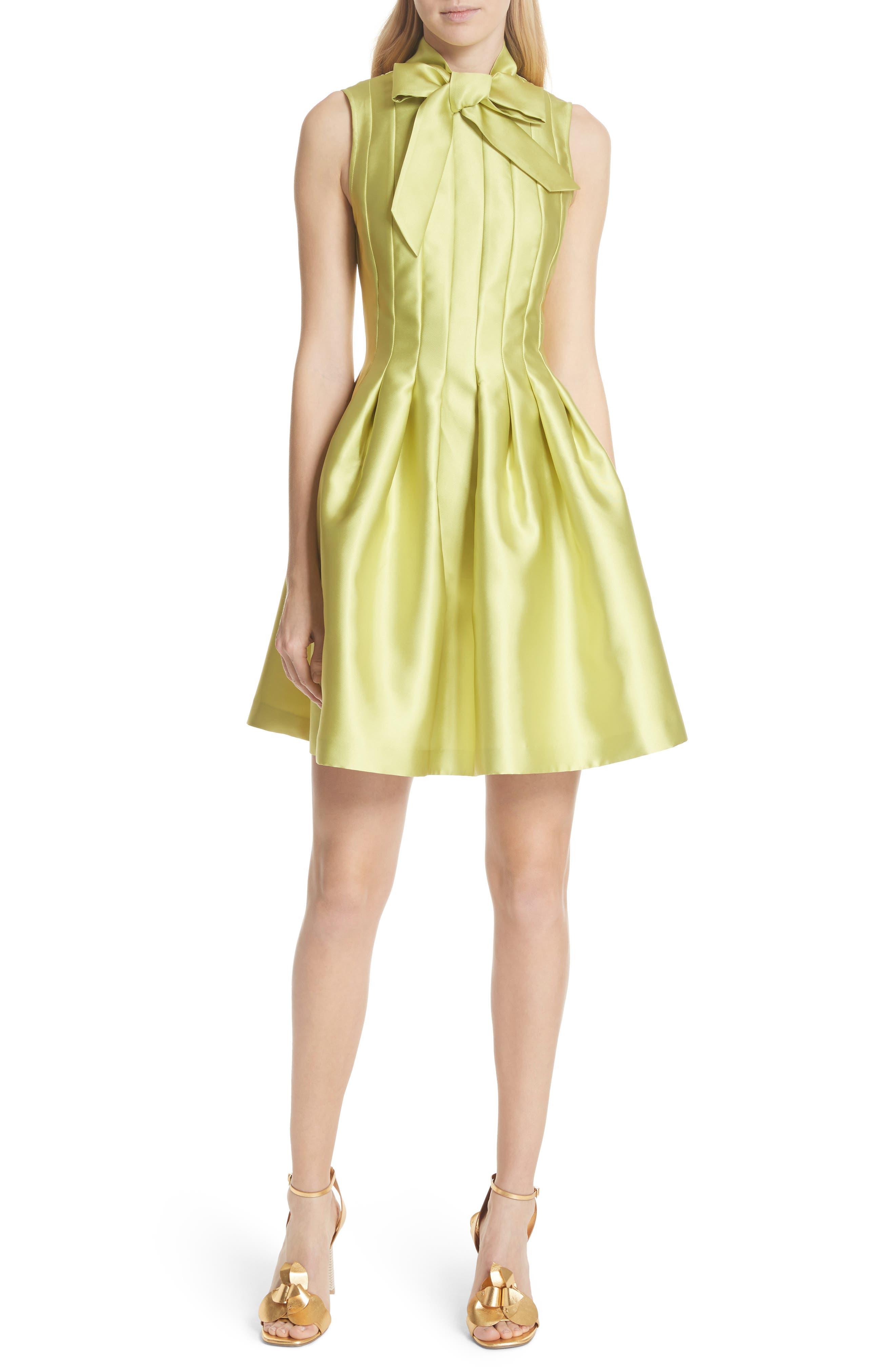 Bow Neck Skater Dress,                         Main,                         color,