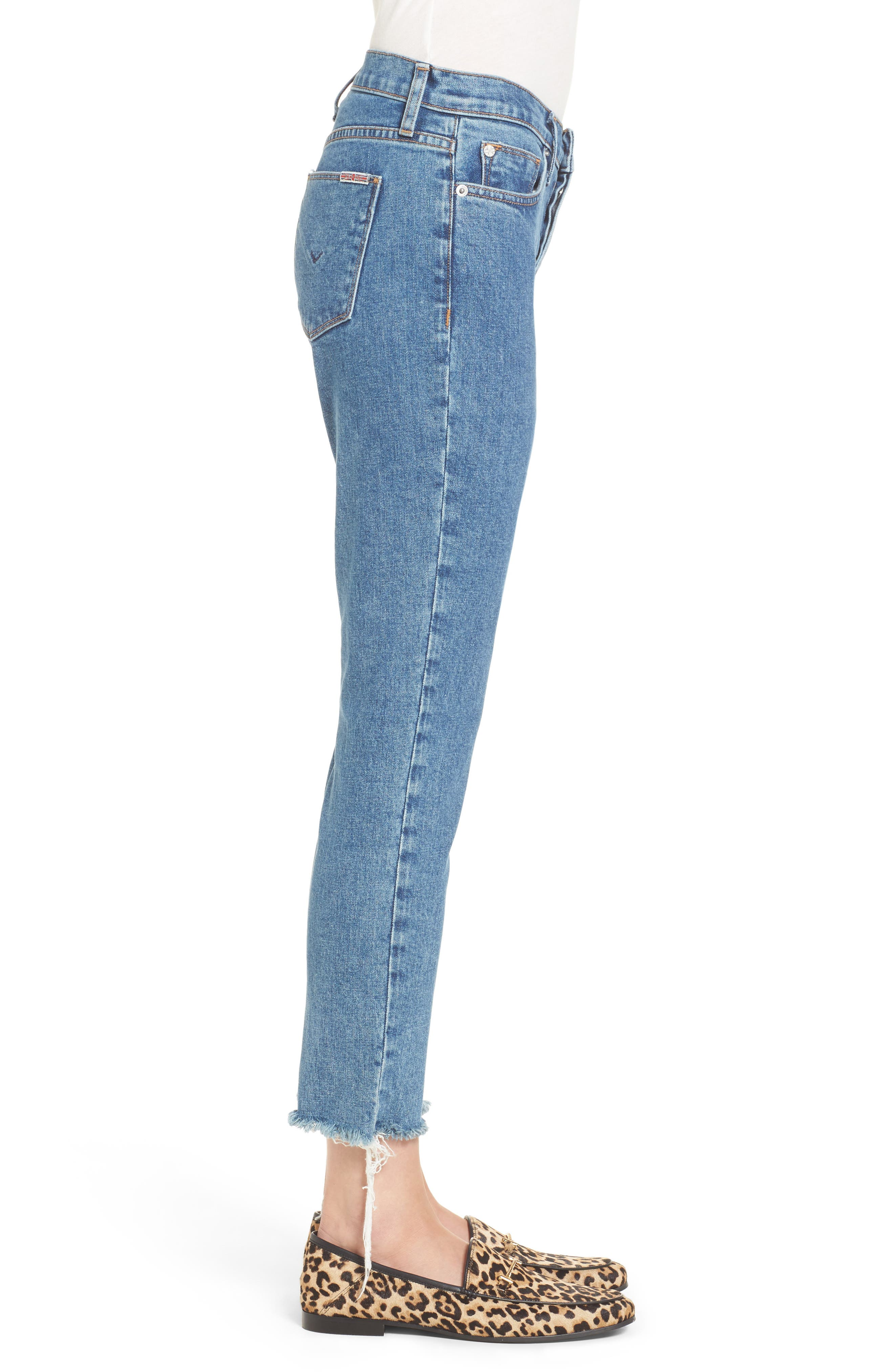 Riley Crop Relaxed Straight Leg Jeans,                             Alternate thumbnail 3, color,                             450