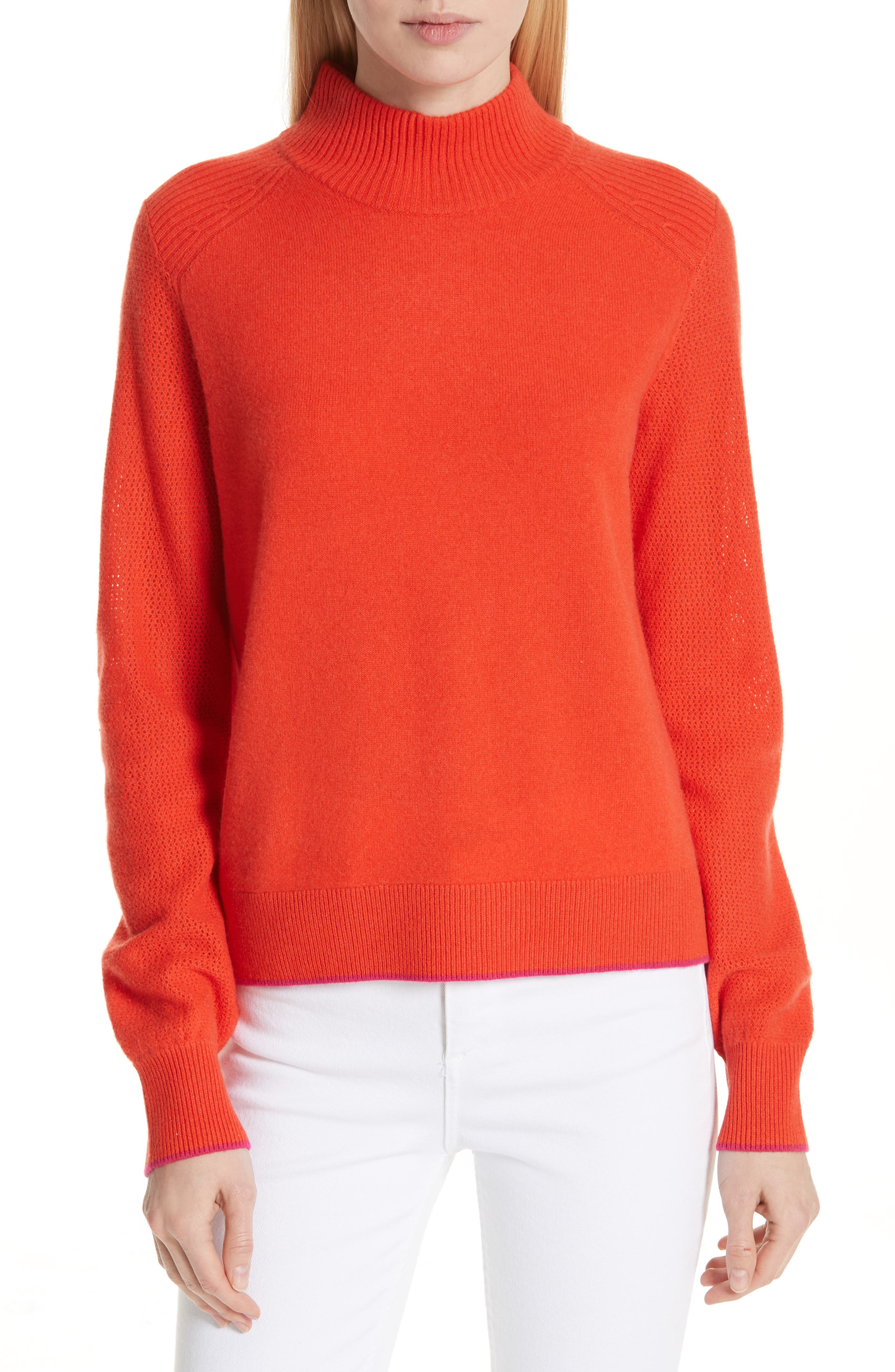 Yorke Cashmere Sweater,                             Main thumbnail 1, color,                             RED