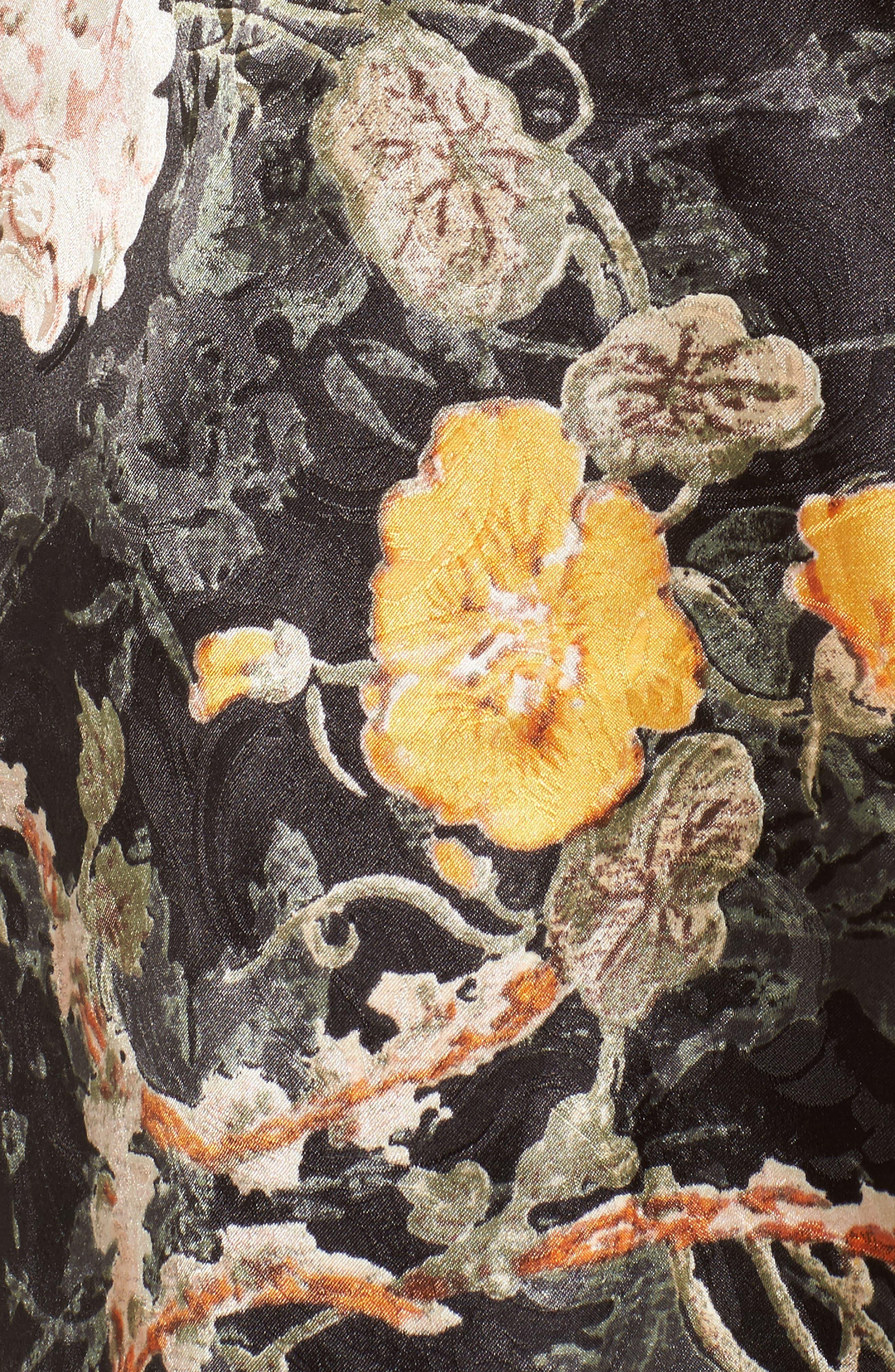 Floral Strapless Top,                             Alternate thumbnail 5, color,                             001