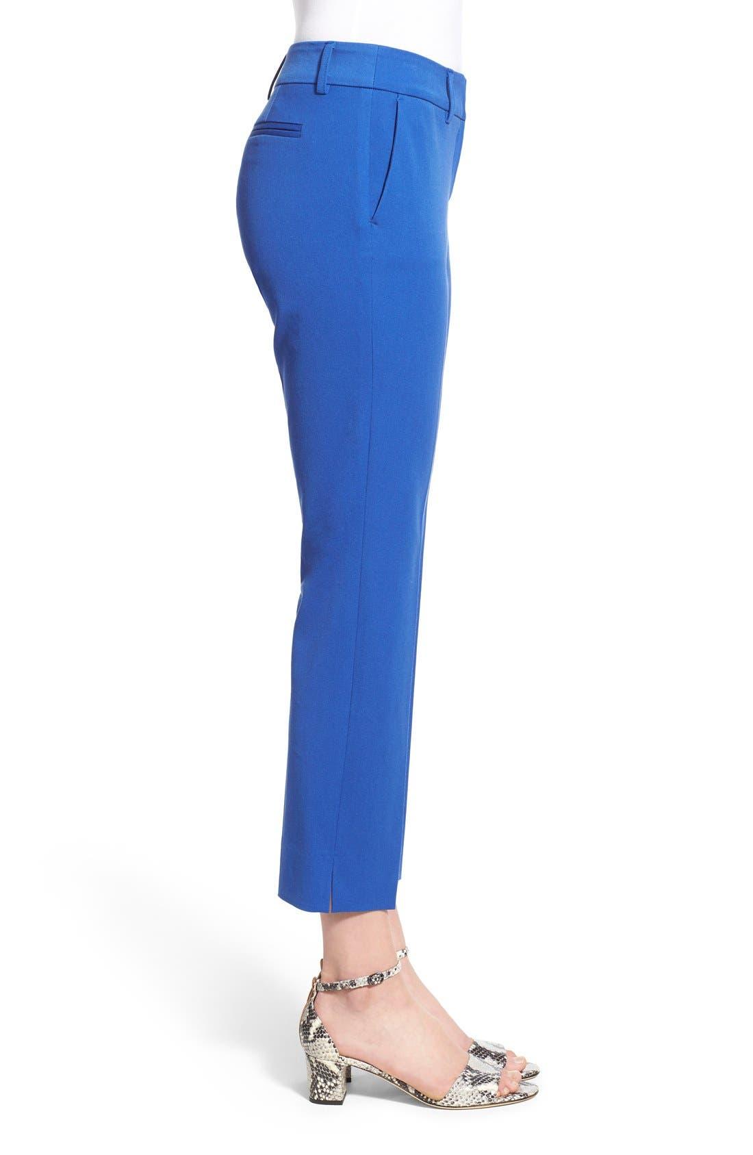 Crop Stretch Cotton Pants,                             Alternate thumbnail 34, color,