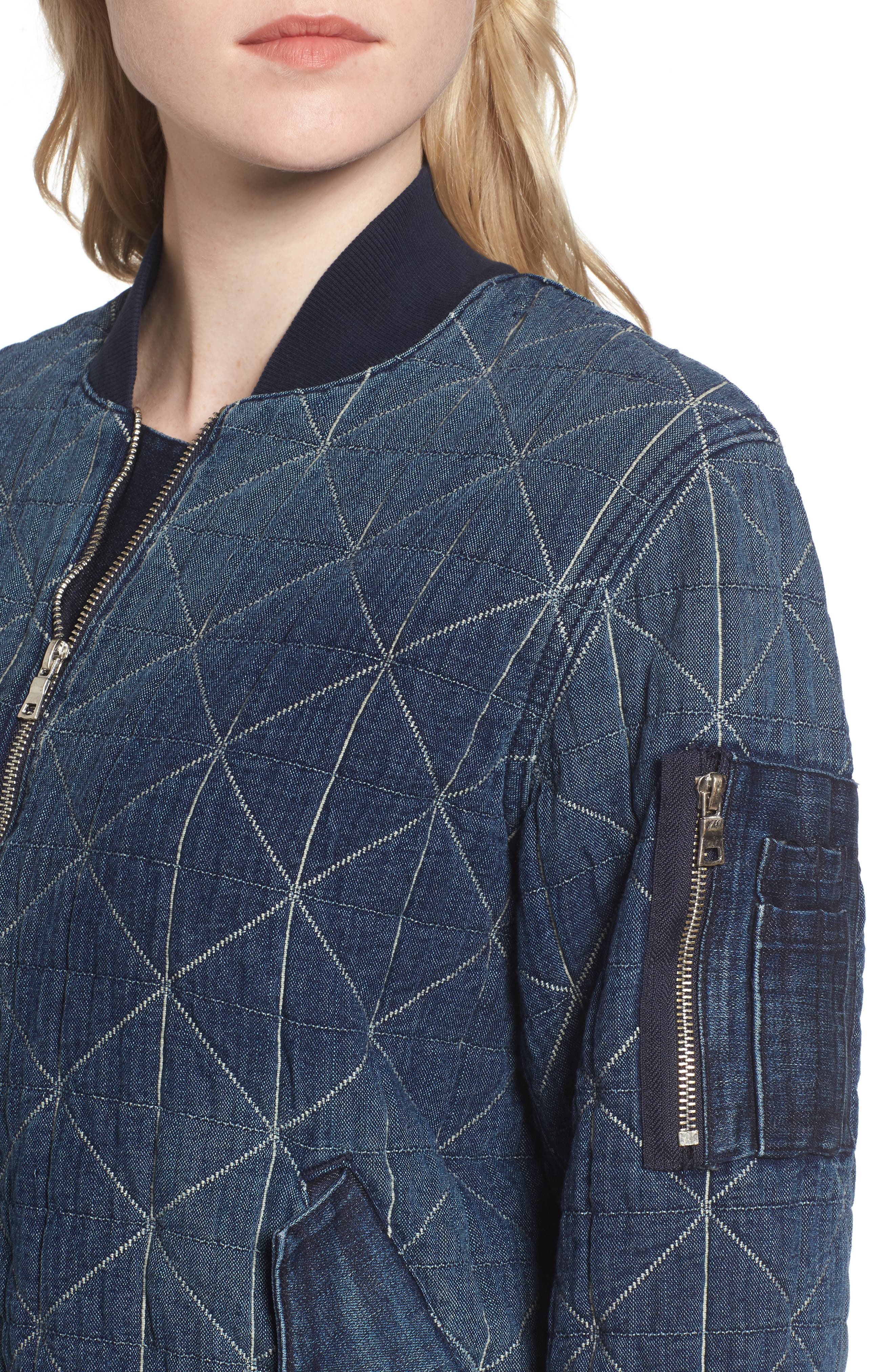 Gene Quilted Bomber Jacket,                             Alternate thumbnail 4, color,                             420