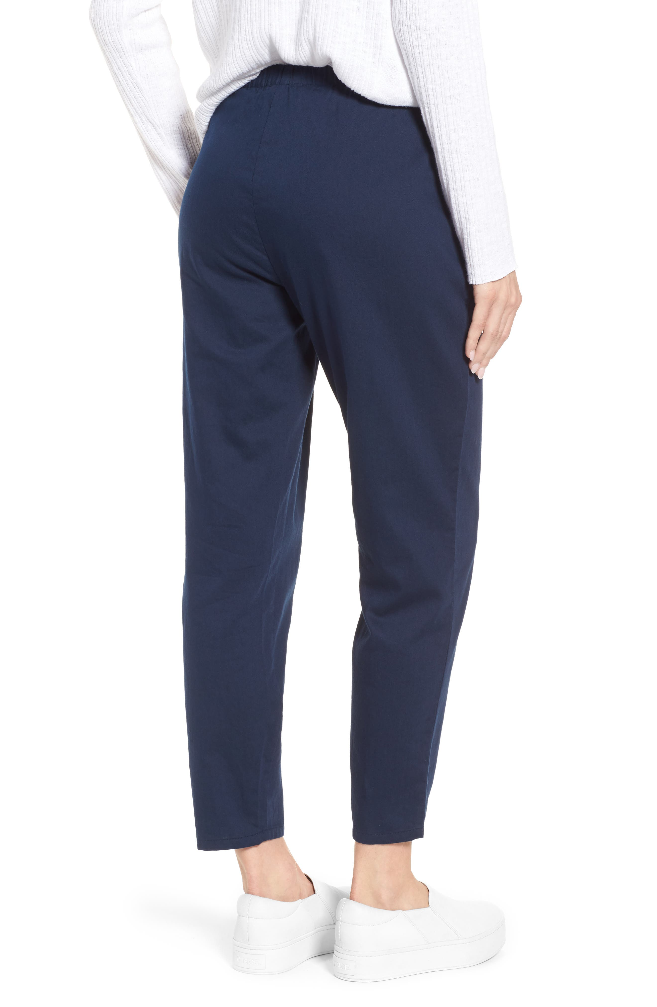 Organic Cotton Tapered Ankle Pants,                             Alternate thumbnail 9, color,