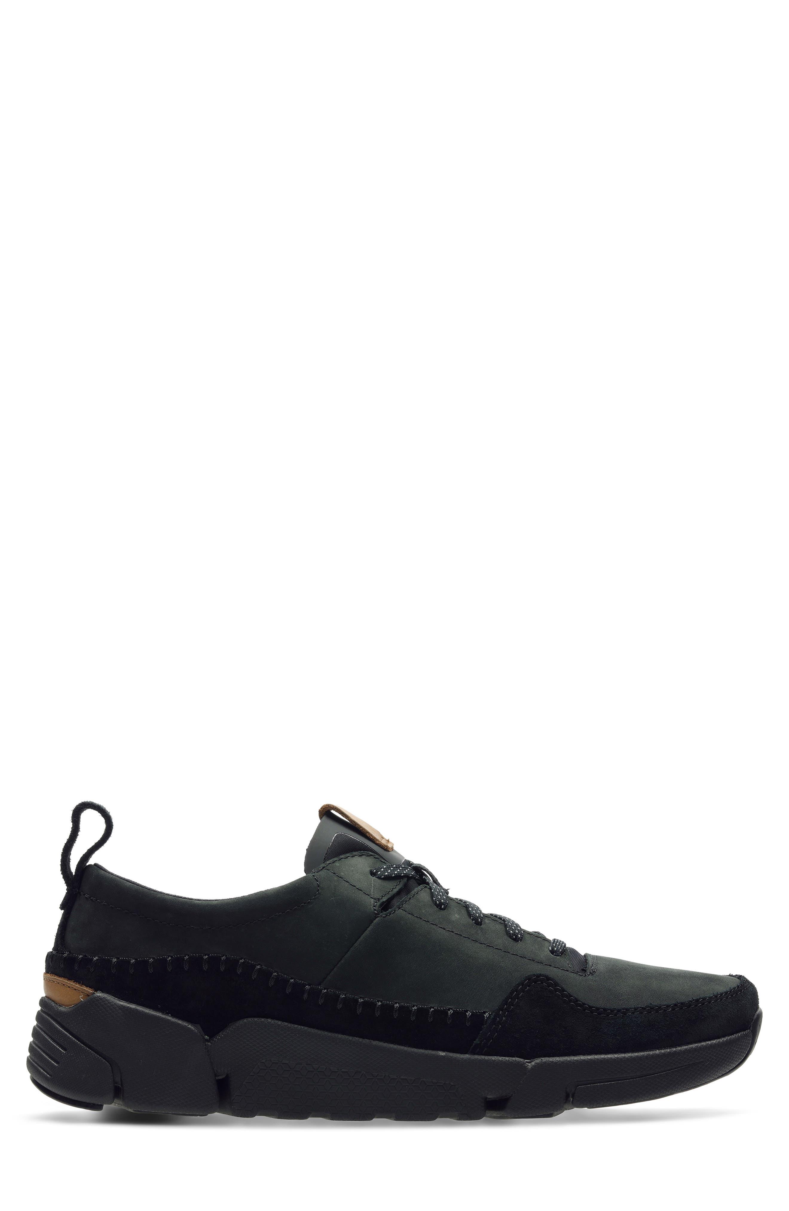 Tri-Active Run Sneaker,                             Alternate thumbnail 2, color,                             BLACK LEATHER