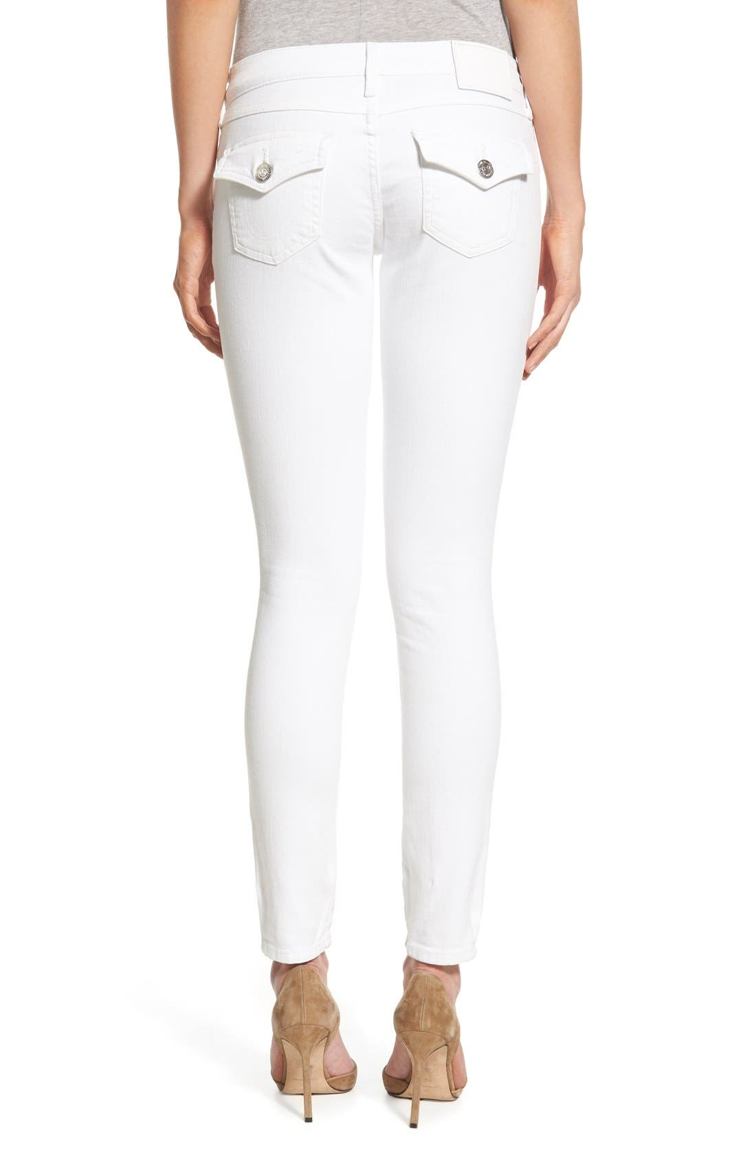 'Casey' Flap Pocket Skinny Jeans,                             Alternate thumbnail 4, color,