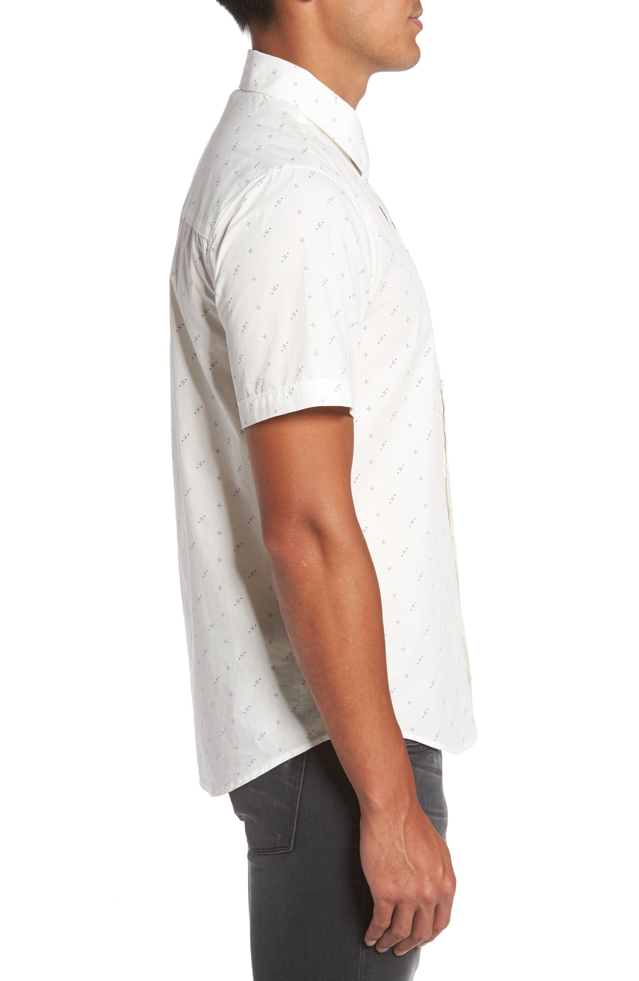 Becker Dot Print Woven Shirt,                             Alternate thumbnail 3, color,                             140