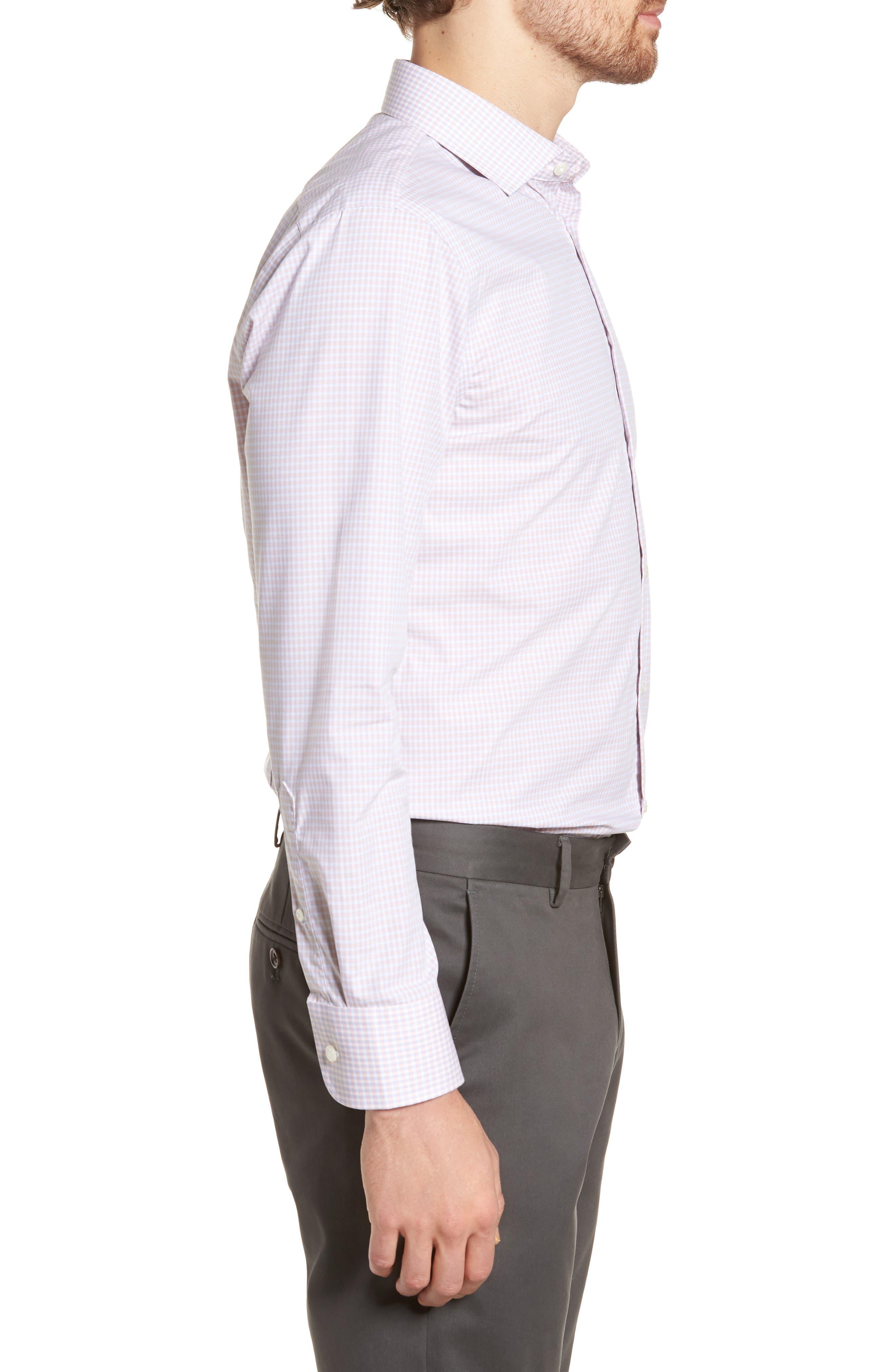 Extra Trim Fit Non-Iron Check Dress Shirt,                             Alternate thumbnail 12, color,