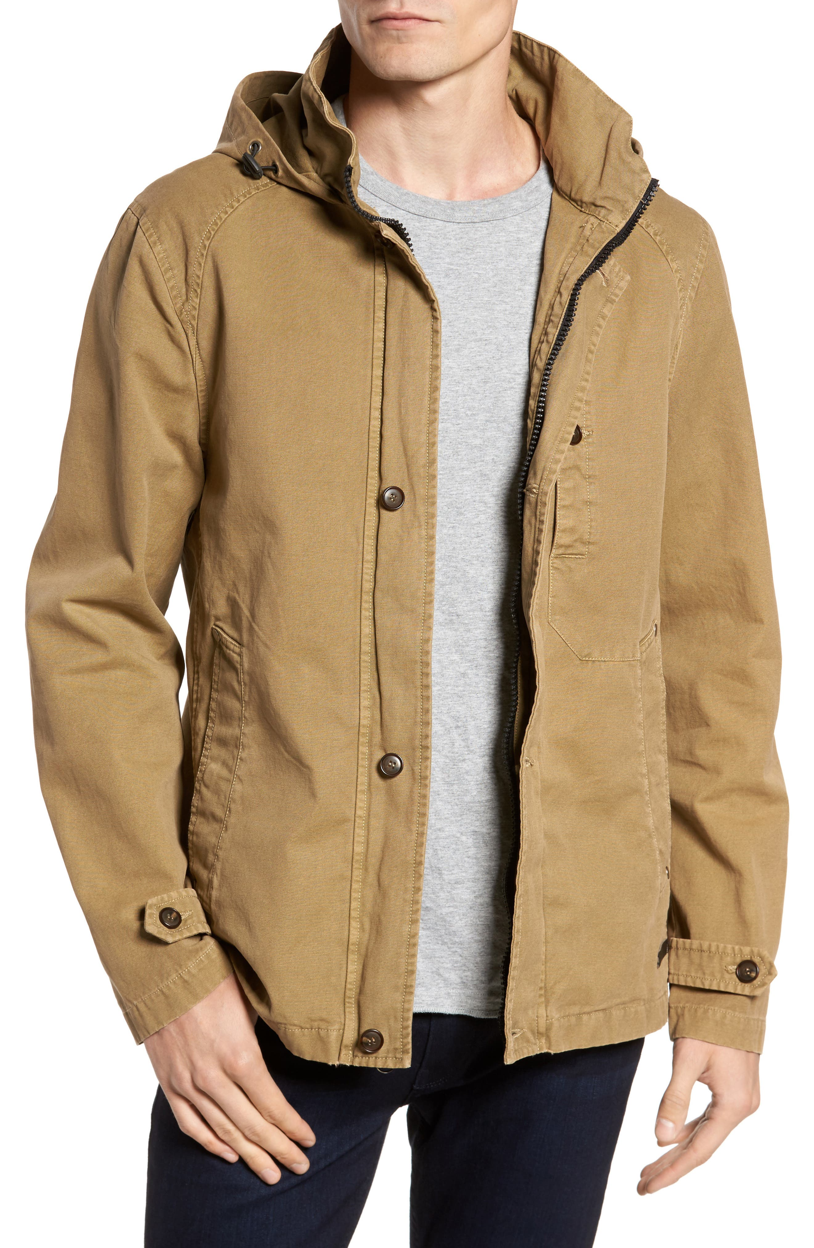 Herman Twill Hooded Jacket,                         Main,                         color, 250