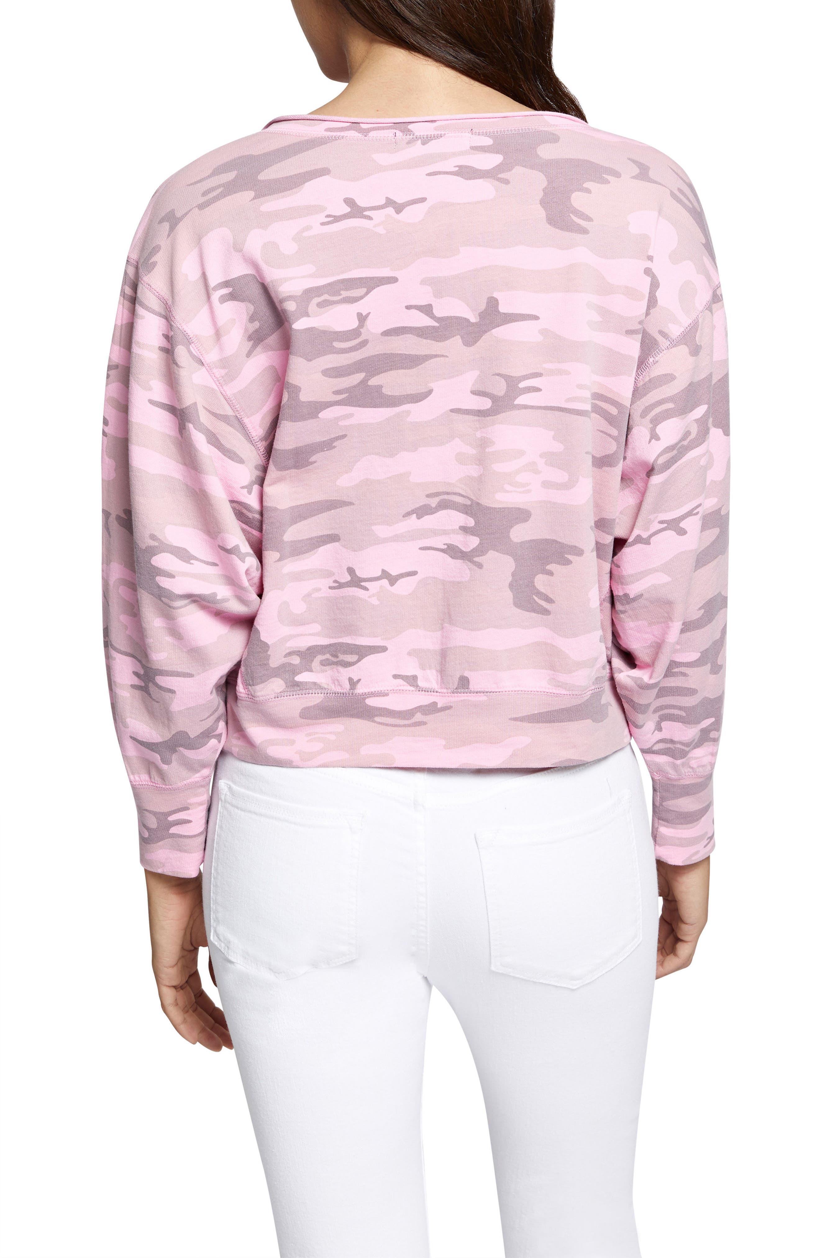 Breslin Split Neck Sweatshirt,                             Alternate thumbnail 4, color,