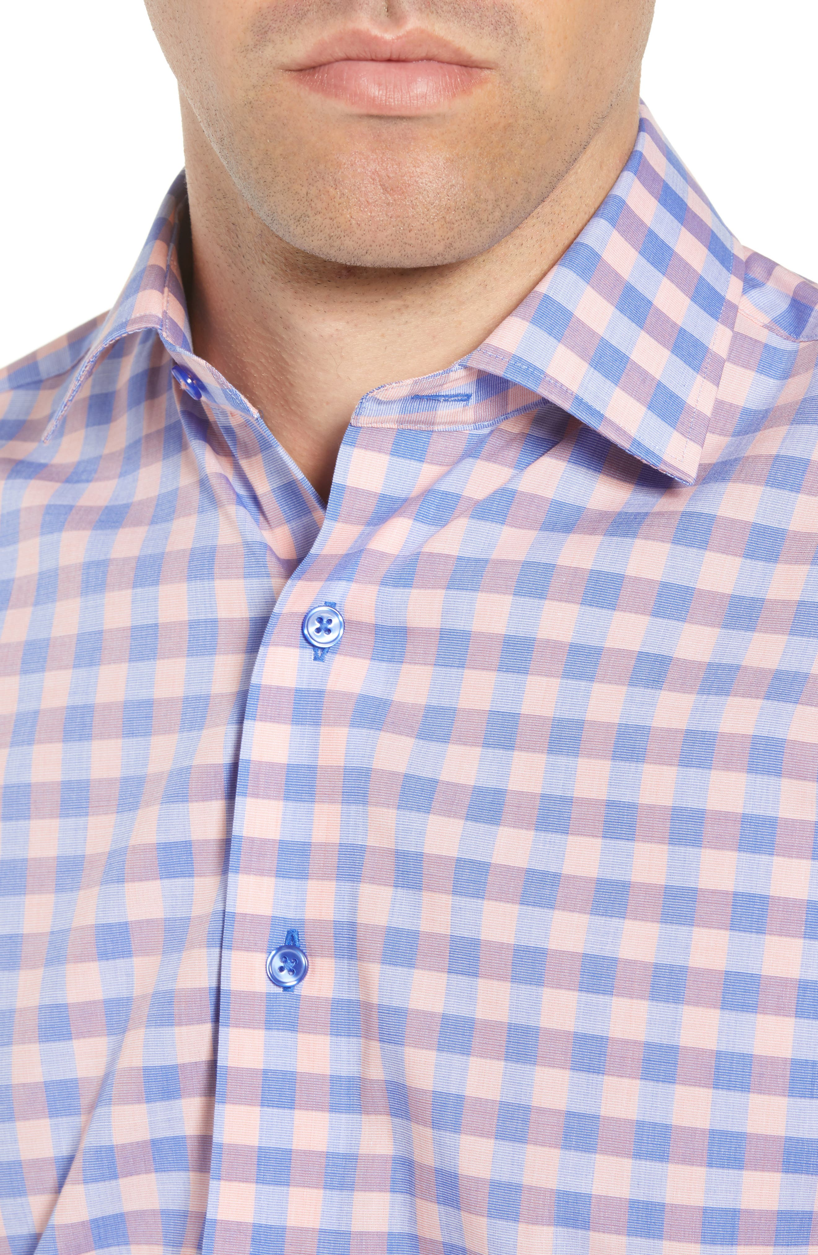 Trim Fit Check Dress Shirt,                             Alternate thumbnail 2, color,                             410