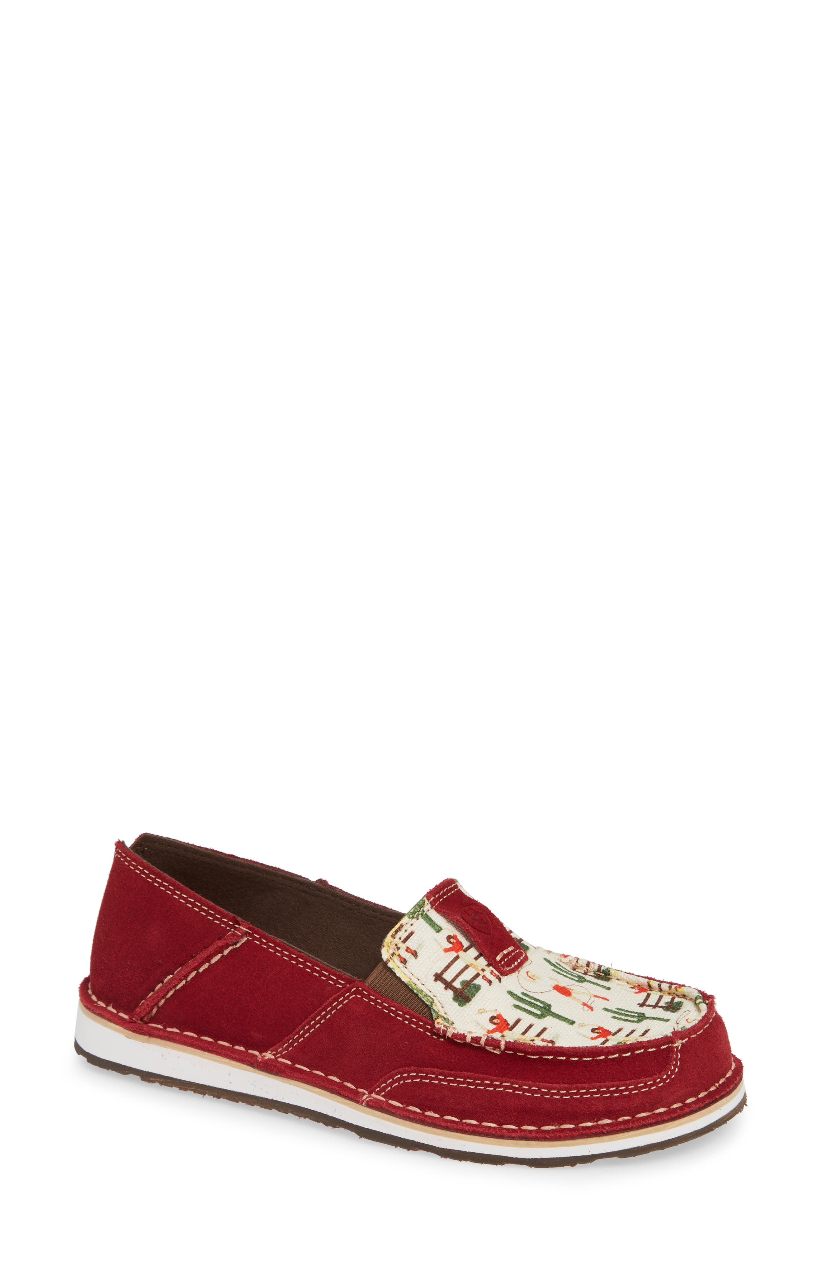 Cruiser Slip-On Loafer,                             Main thumbnail 1, color,                             CRANBERRY VINTAGE LEATHER