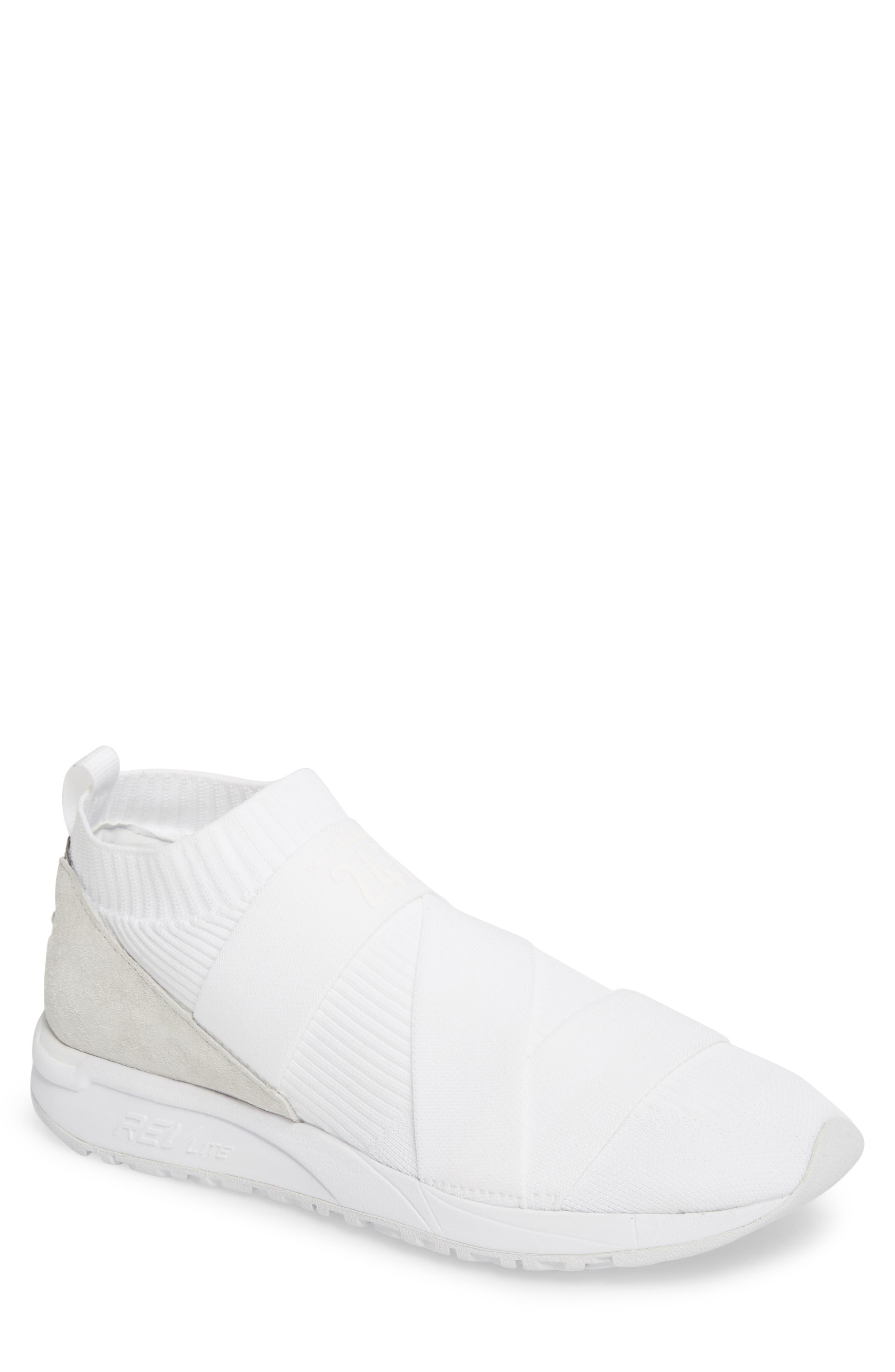 247 Knit Sneaker,                         Main,                         color, WHITE