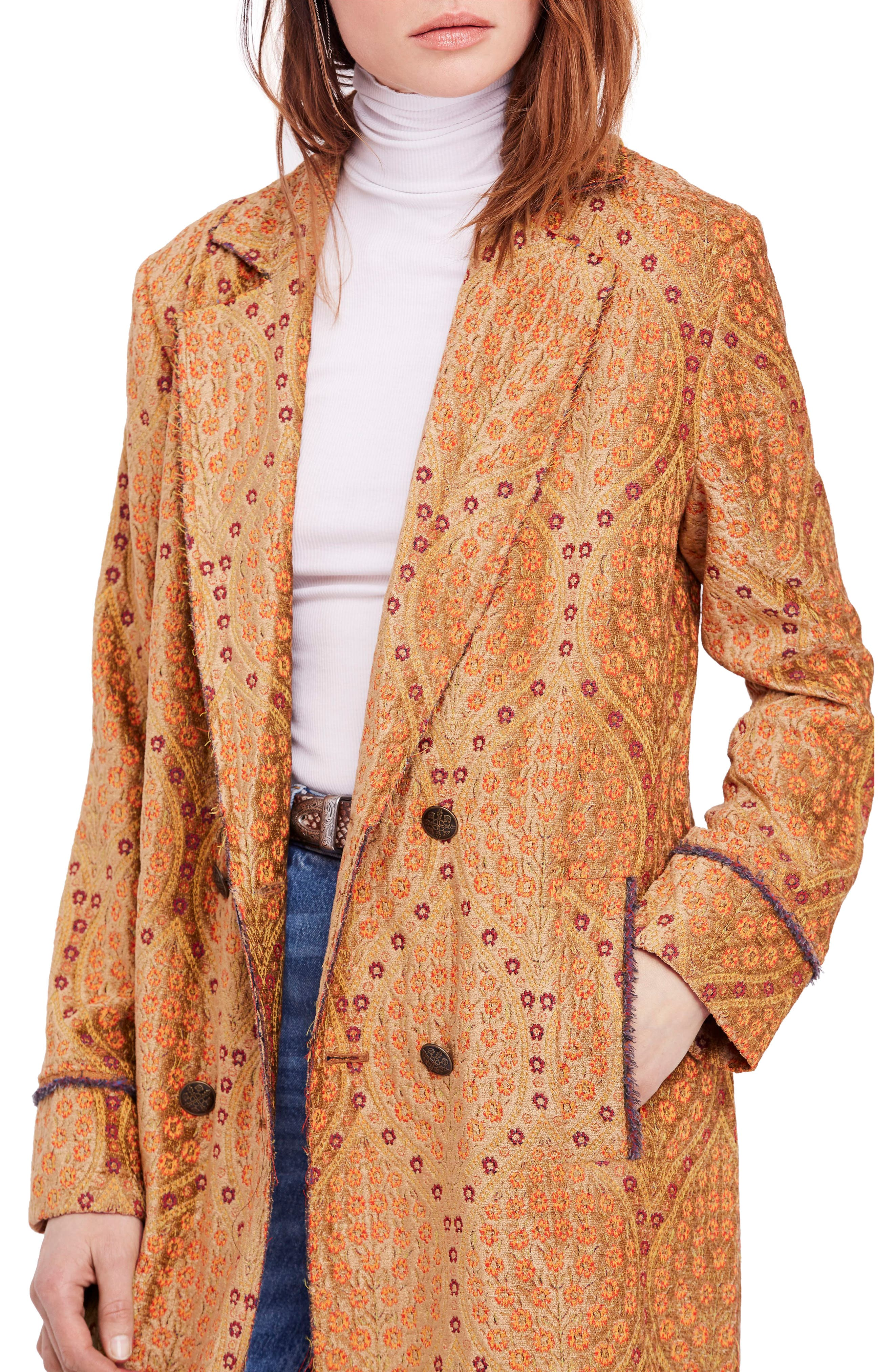 Out All Night Long Jacquard Jacket,                             Alternate thumbnail 4, color,                             710