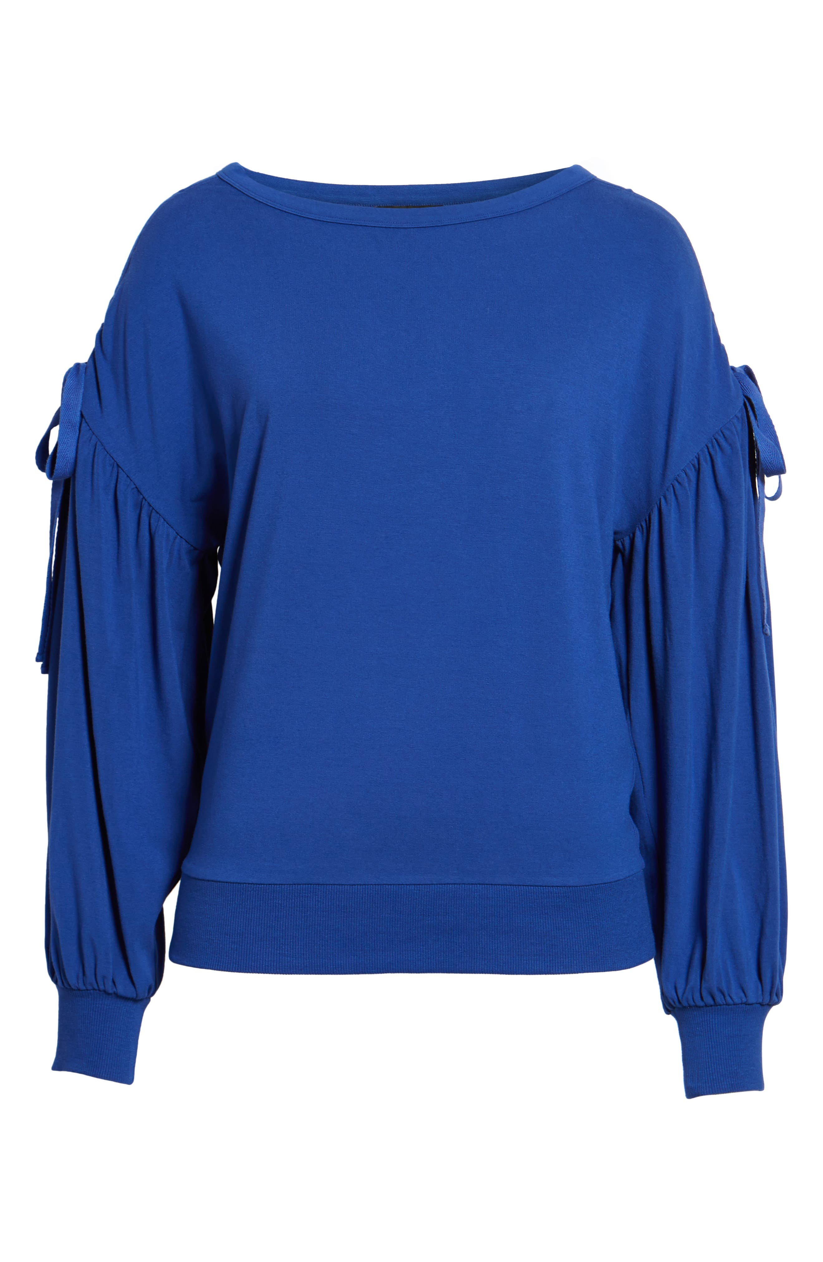 Ruched Bow Sleeve Top,                             Alternate thumbnail 23, color,