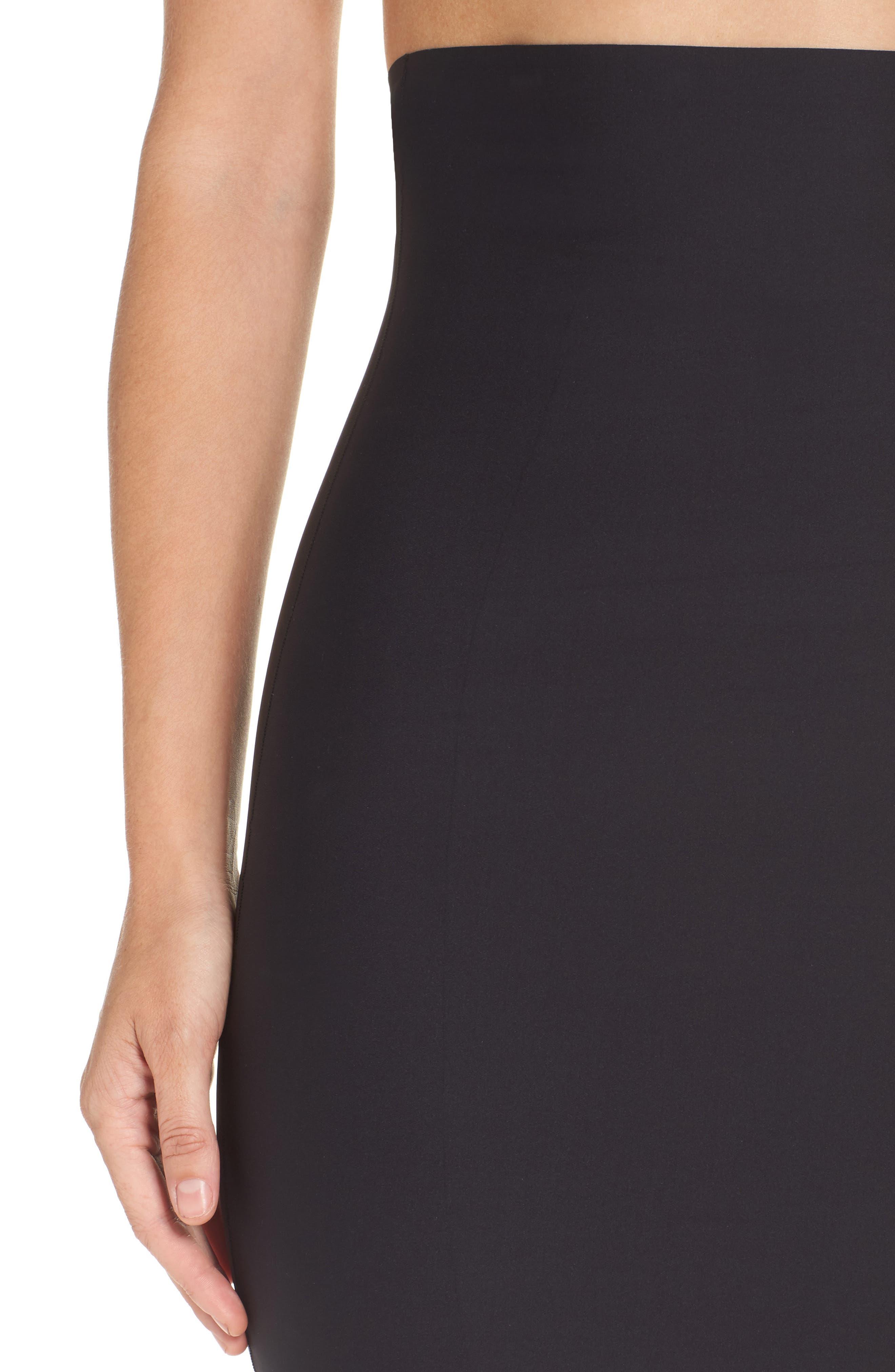 High Waist Smoother Skirt Slip,                             Alternate thumbnail 4, color,                             001