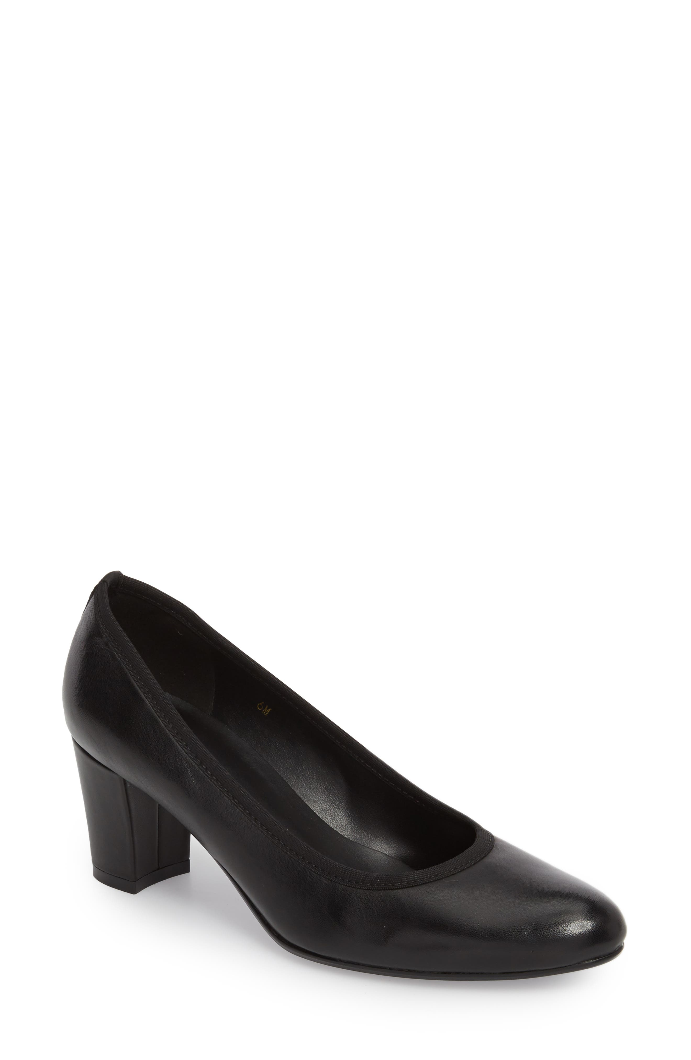 Dacy Pump,                             Main thumbnail 1, color,                             BLACK LEATHER
