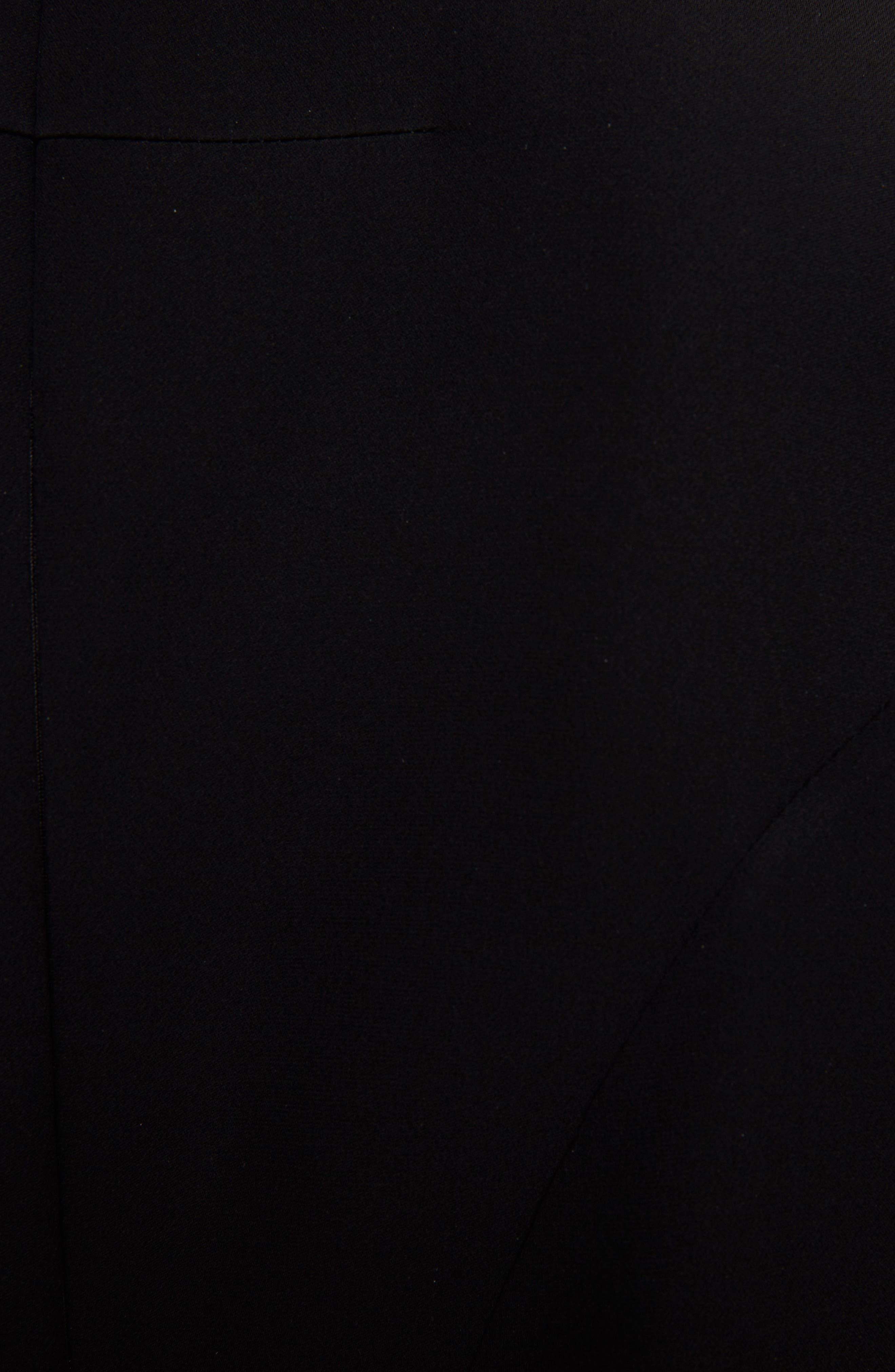 Chiffon Cape Silk Georgette Dress,                             Alternate thumbnail 5, color,