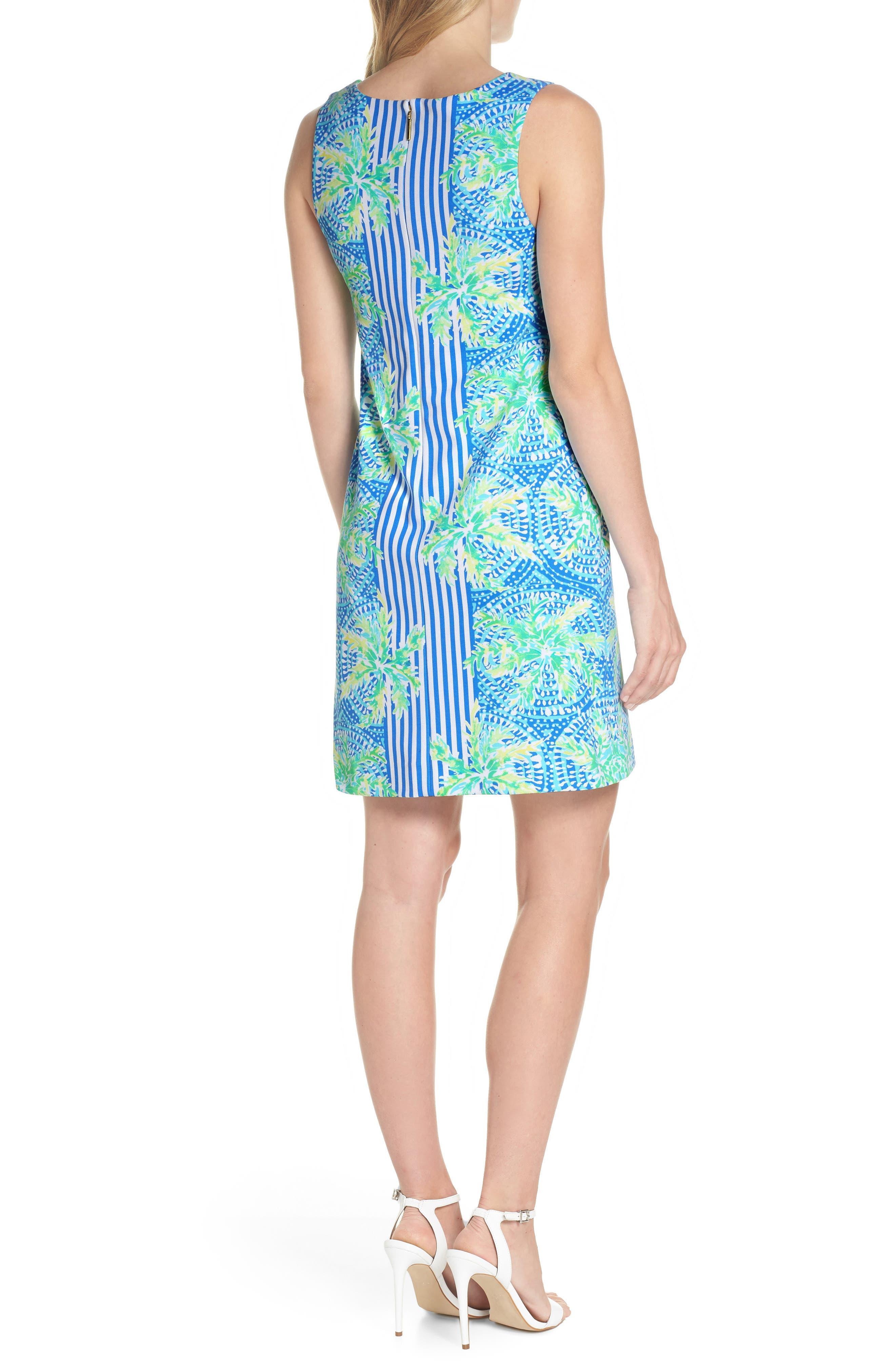 Chiara Stripe & Floral Print Dress,                             Alternate thumbnail 2, color,                             BENNET BLUE TROPIC LIKE ITS