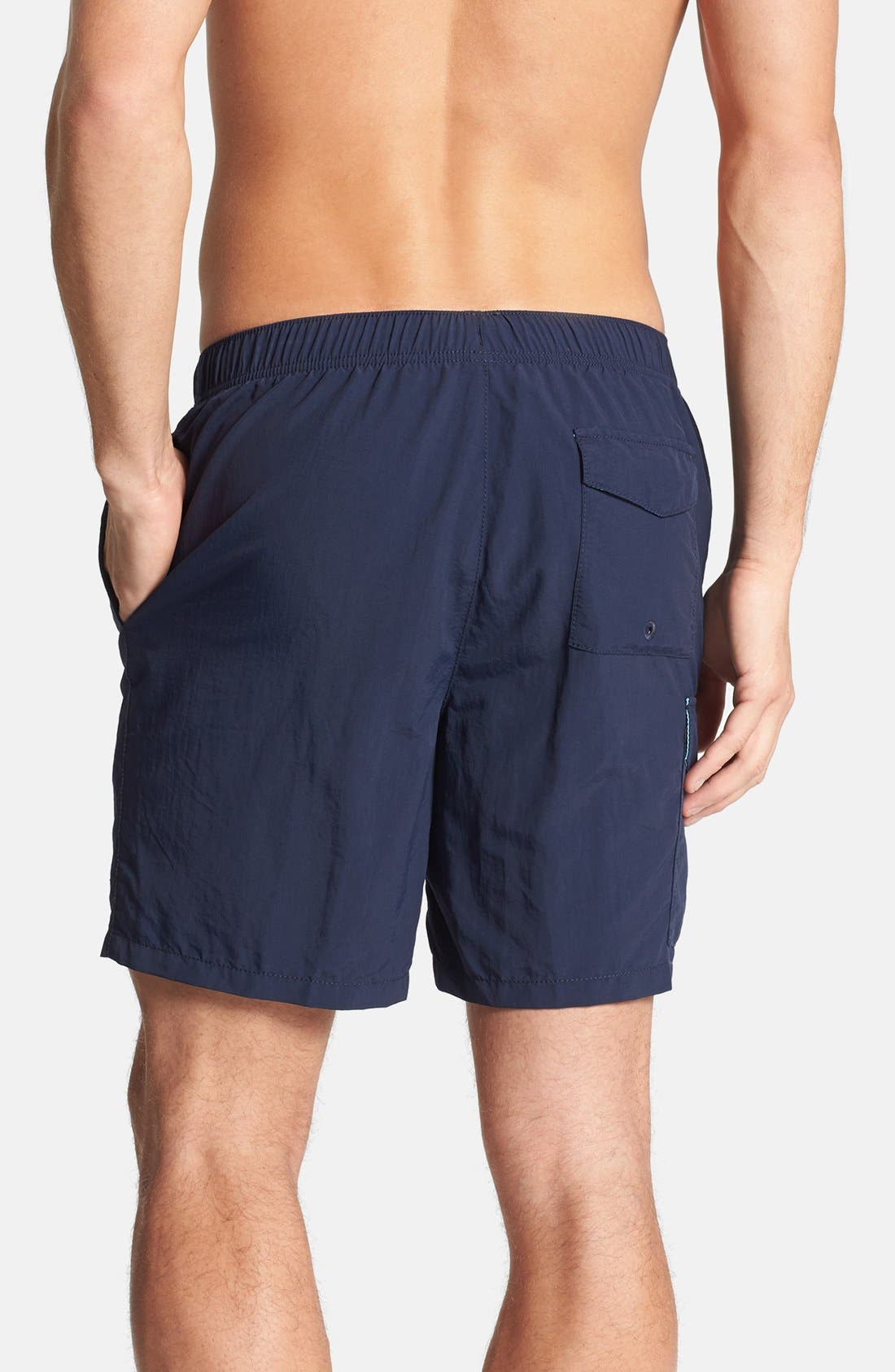 'The Naples Happy Go Cargo' Swim Trunks,                             Alternate thumbnail 5, color,                             406