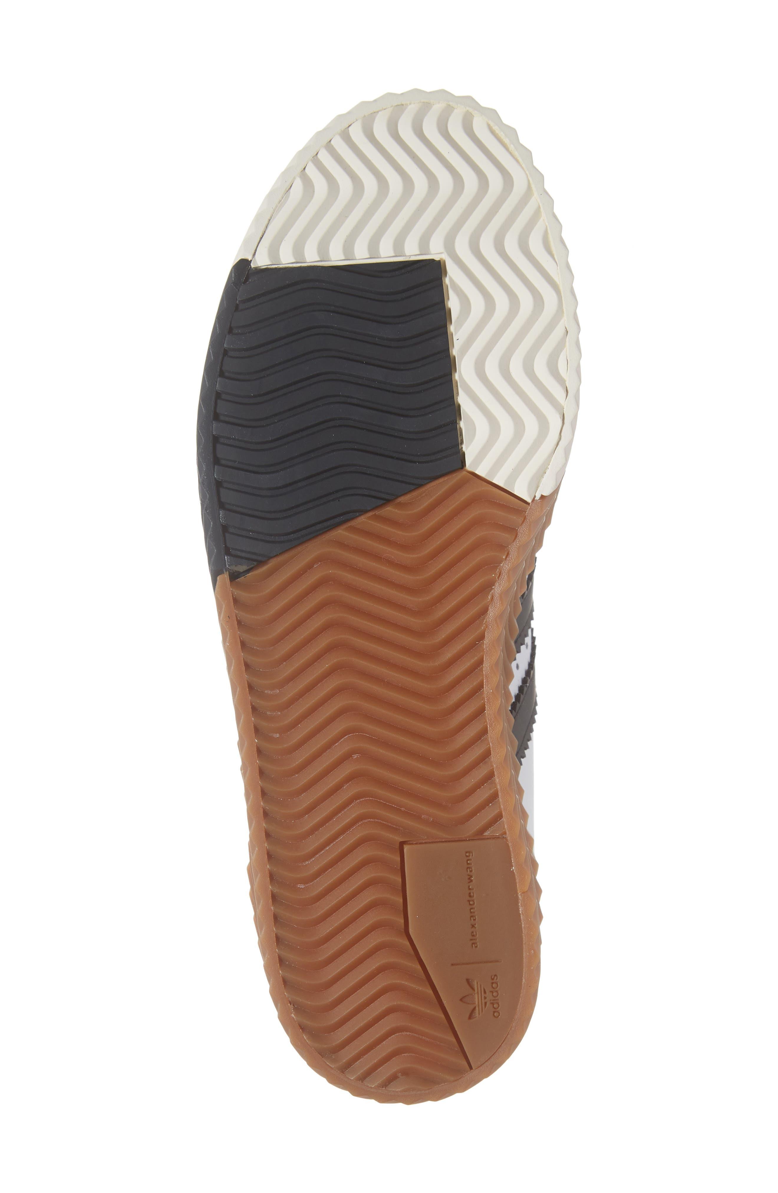 Skate Super Sneaker,                             Alternate thumbnail 6, color,                             WHITE/ BLACK/ BROWN