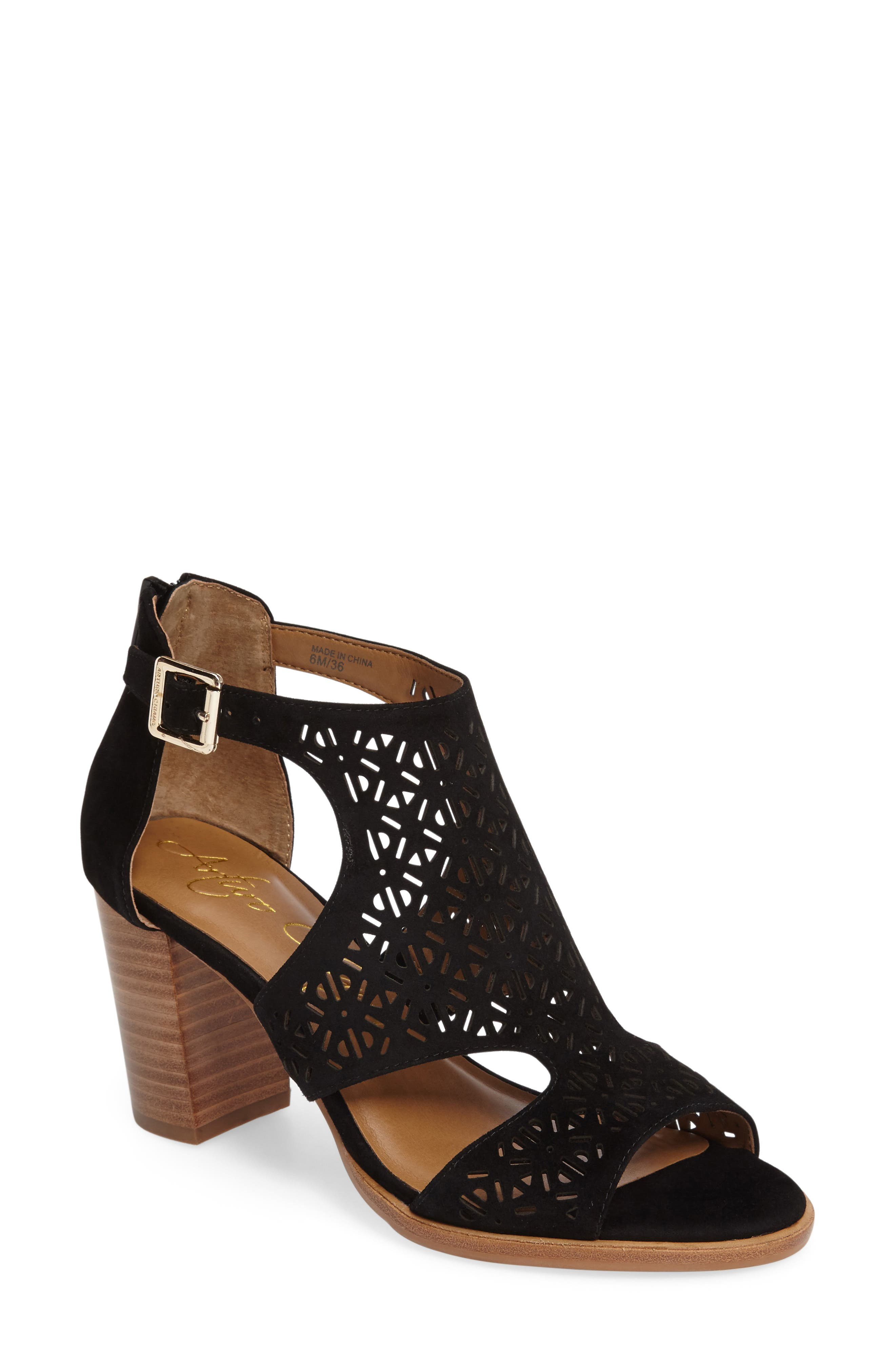 Edythe Block Heel Sandal,                             Main thumbnail 1, color,                             001