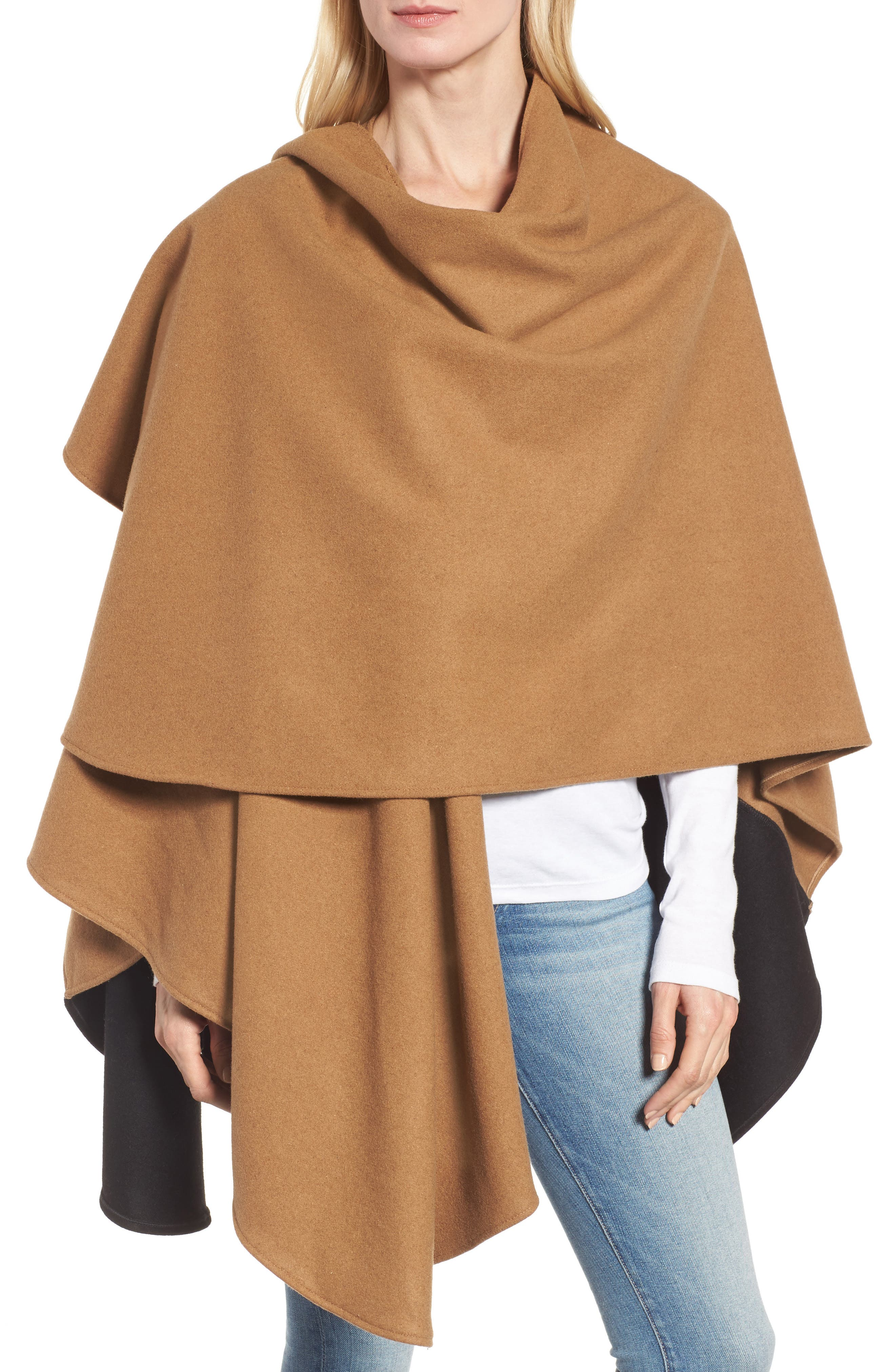 Duo Wonder Wool Cape,                             Alternate thumbnail 8, color,