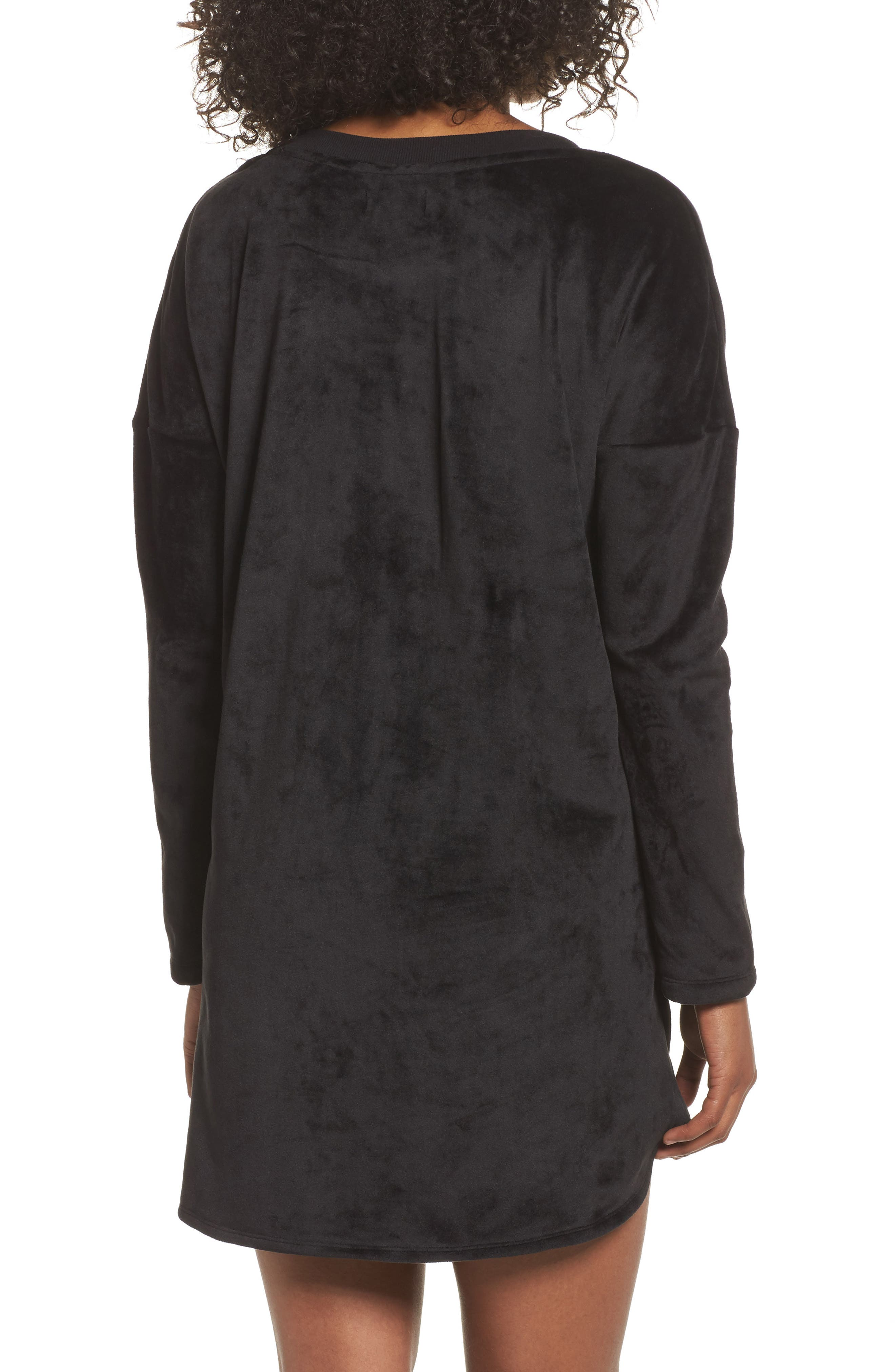Luxury Plush Sleep Shirt,                             Alternate thumbnail 2, color,                             001