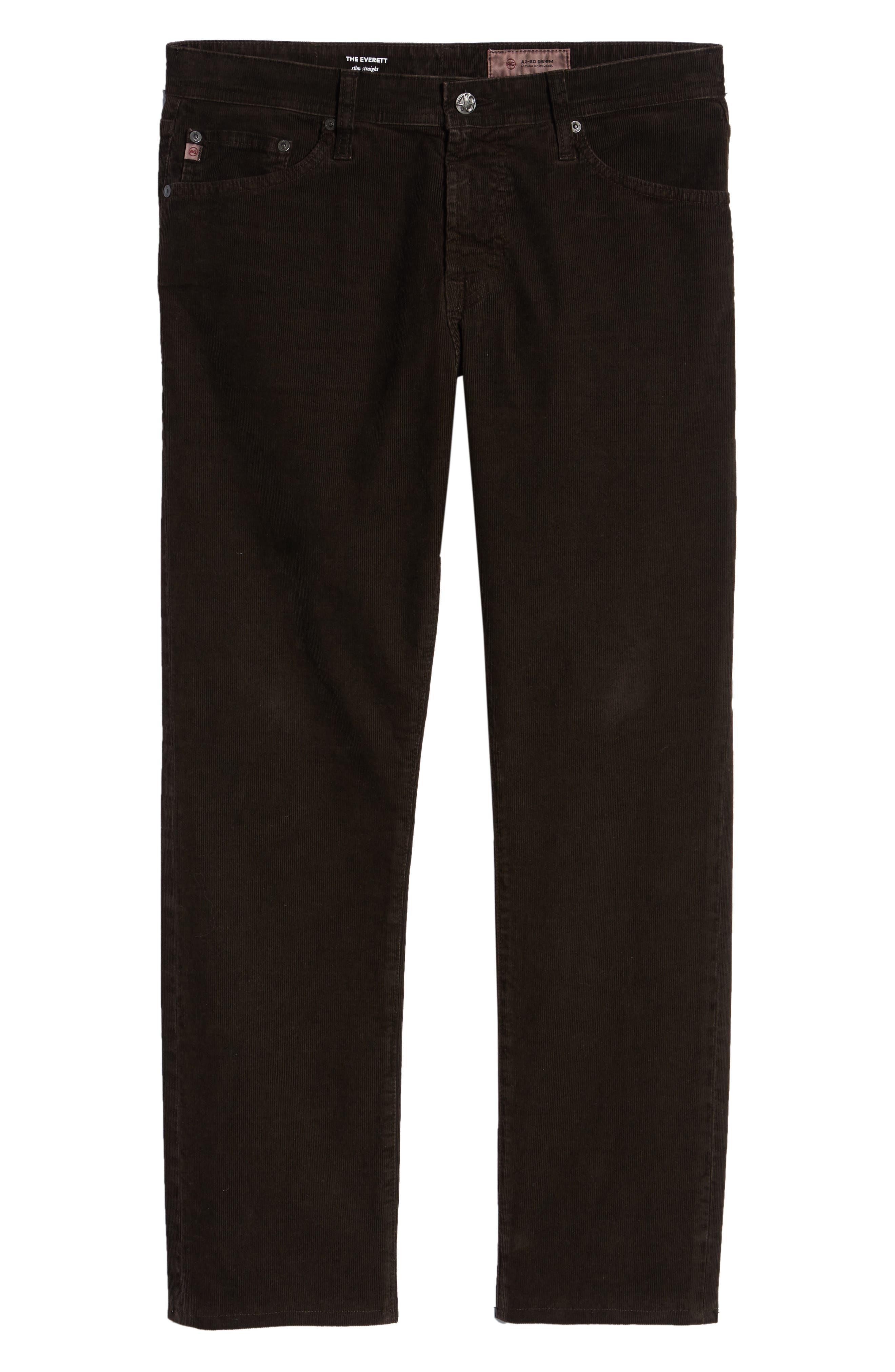 Everett Straight Leg Corduroy Pants,                             Alternate thumbnail 6, color,                             SULFUR SHUTTER