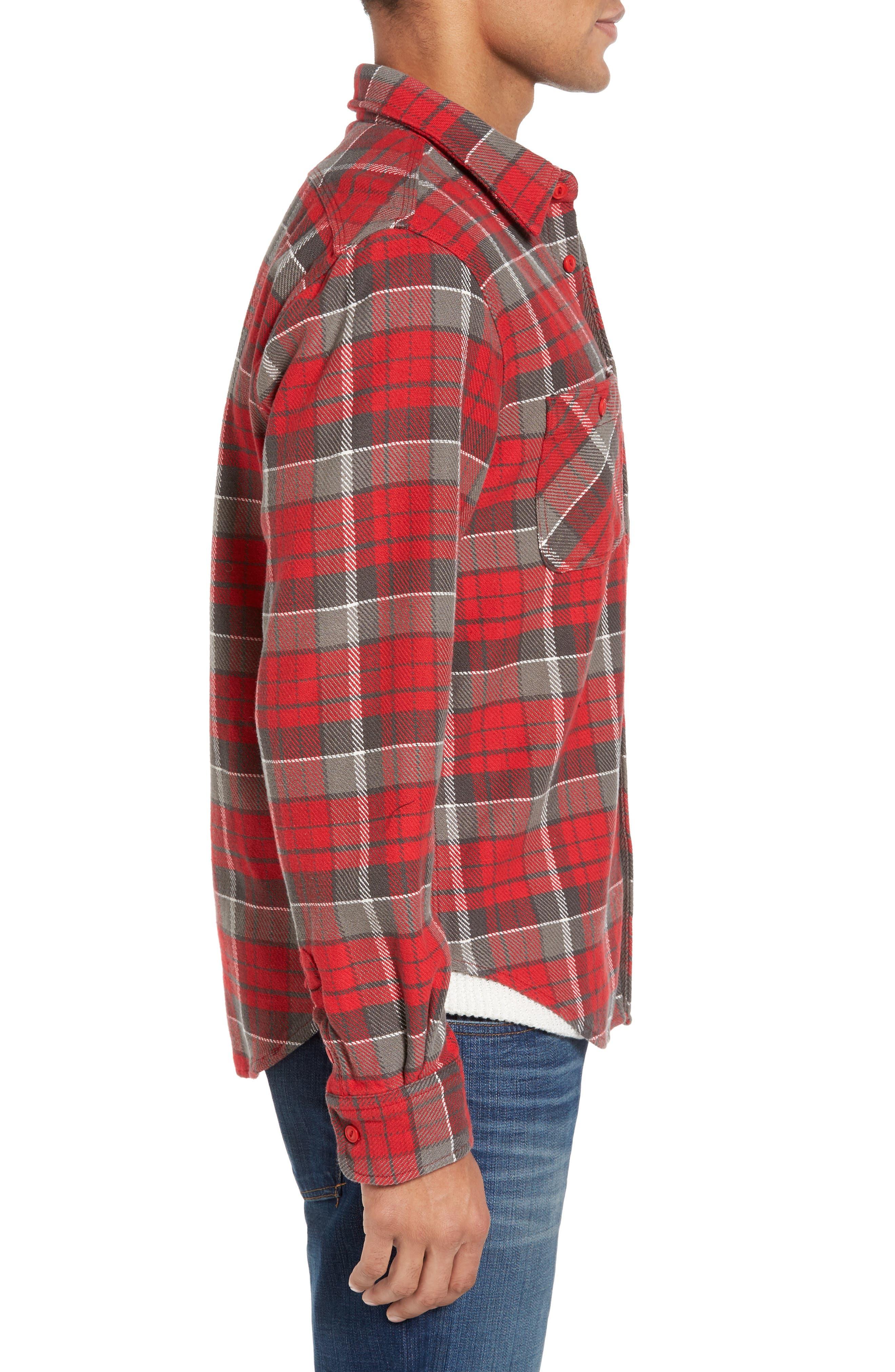 Classic Fit Plaid Flannel Shirt,                             Alternate thumbnail 12, color,