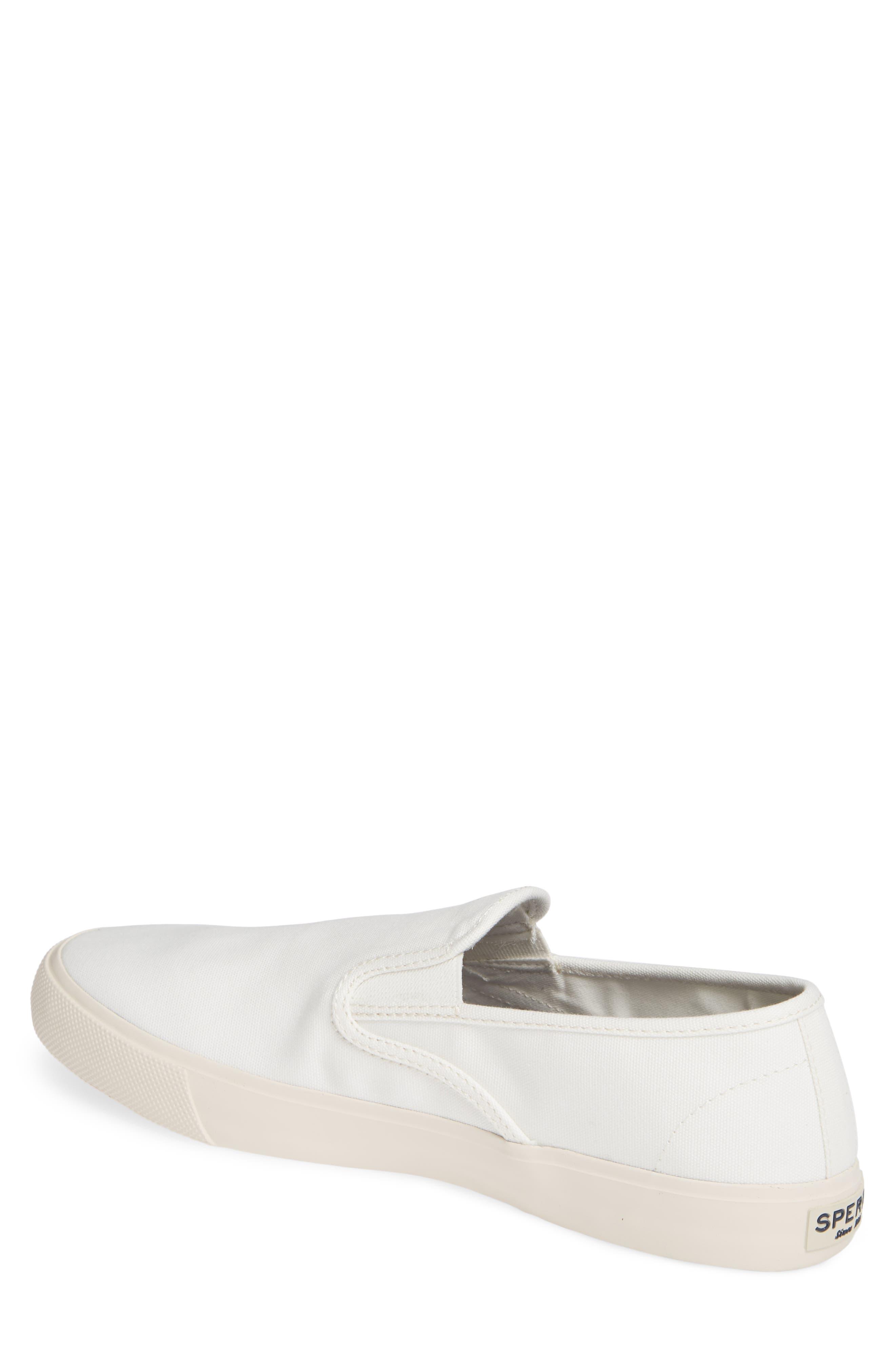 Striper II Slip-On Sneaker,                             Alternate thumbnail 2, color,                             WHITE