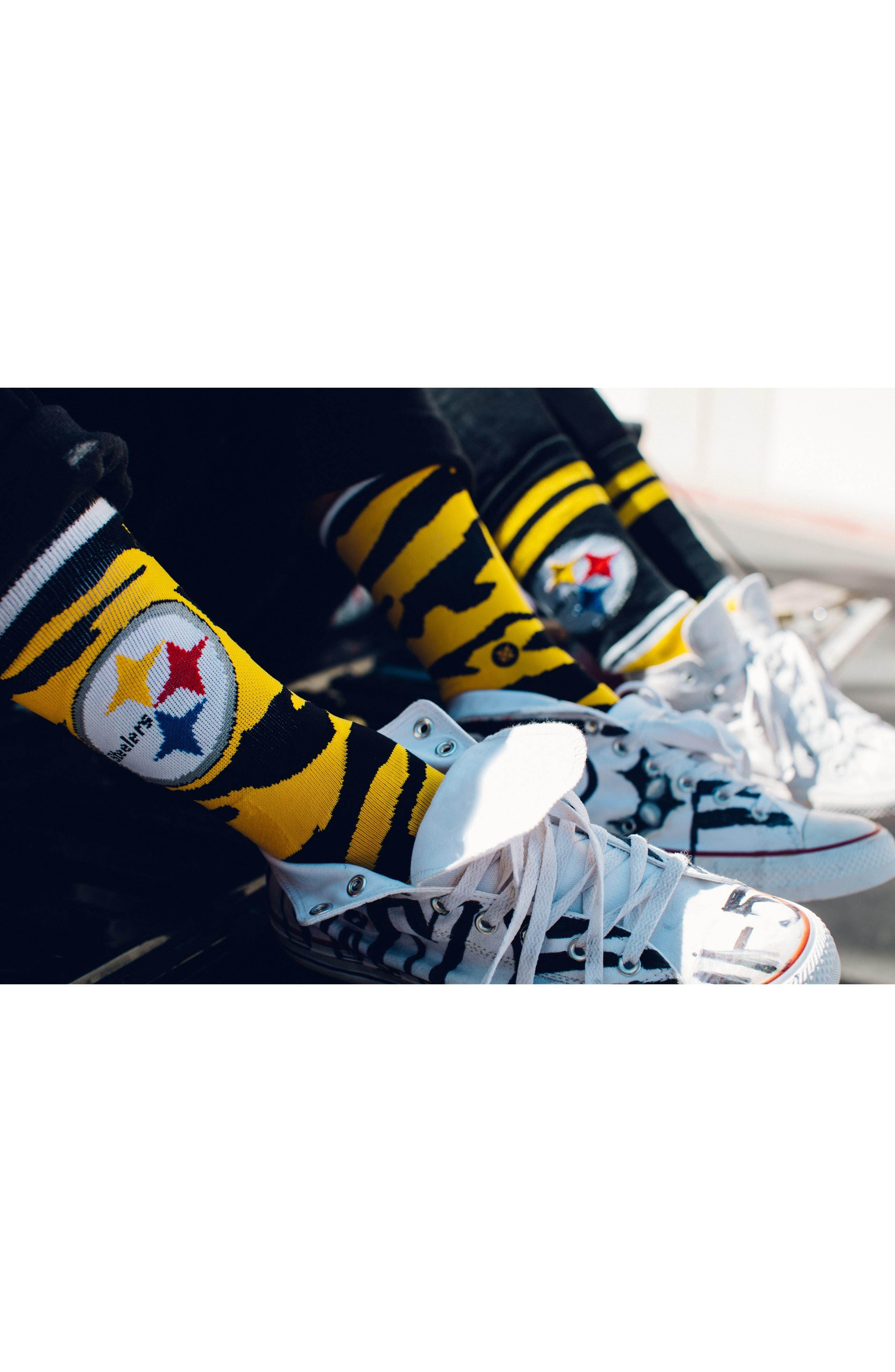 Pittsburgh Steelers - Fade Socks,                             Alternate thumbnail 7, color,                             700