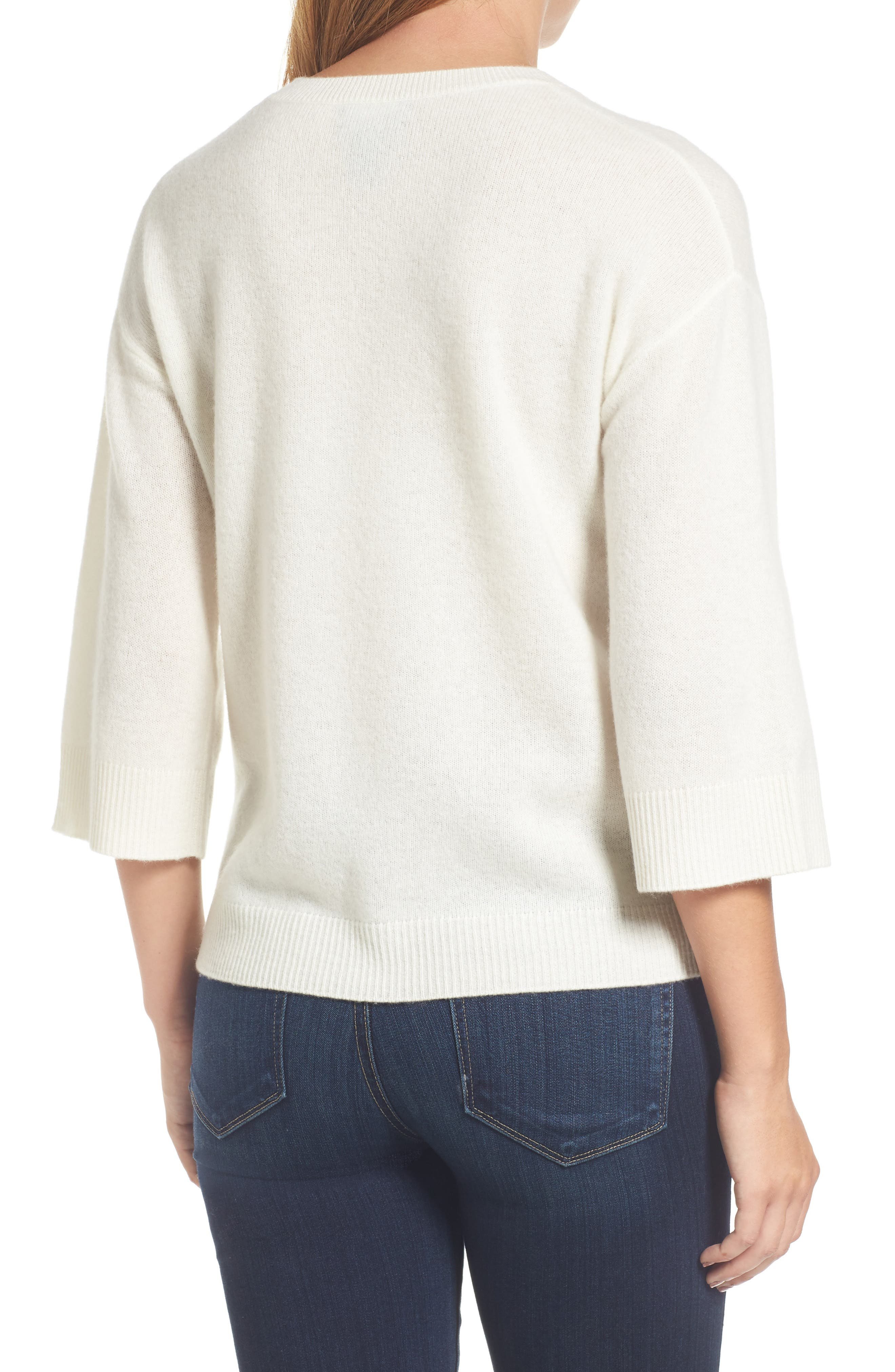 Side Tie Wool and Cashmere Sweater,                             Alternate thumbnail 11, color,
