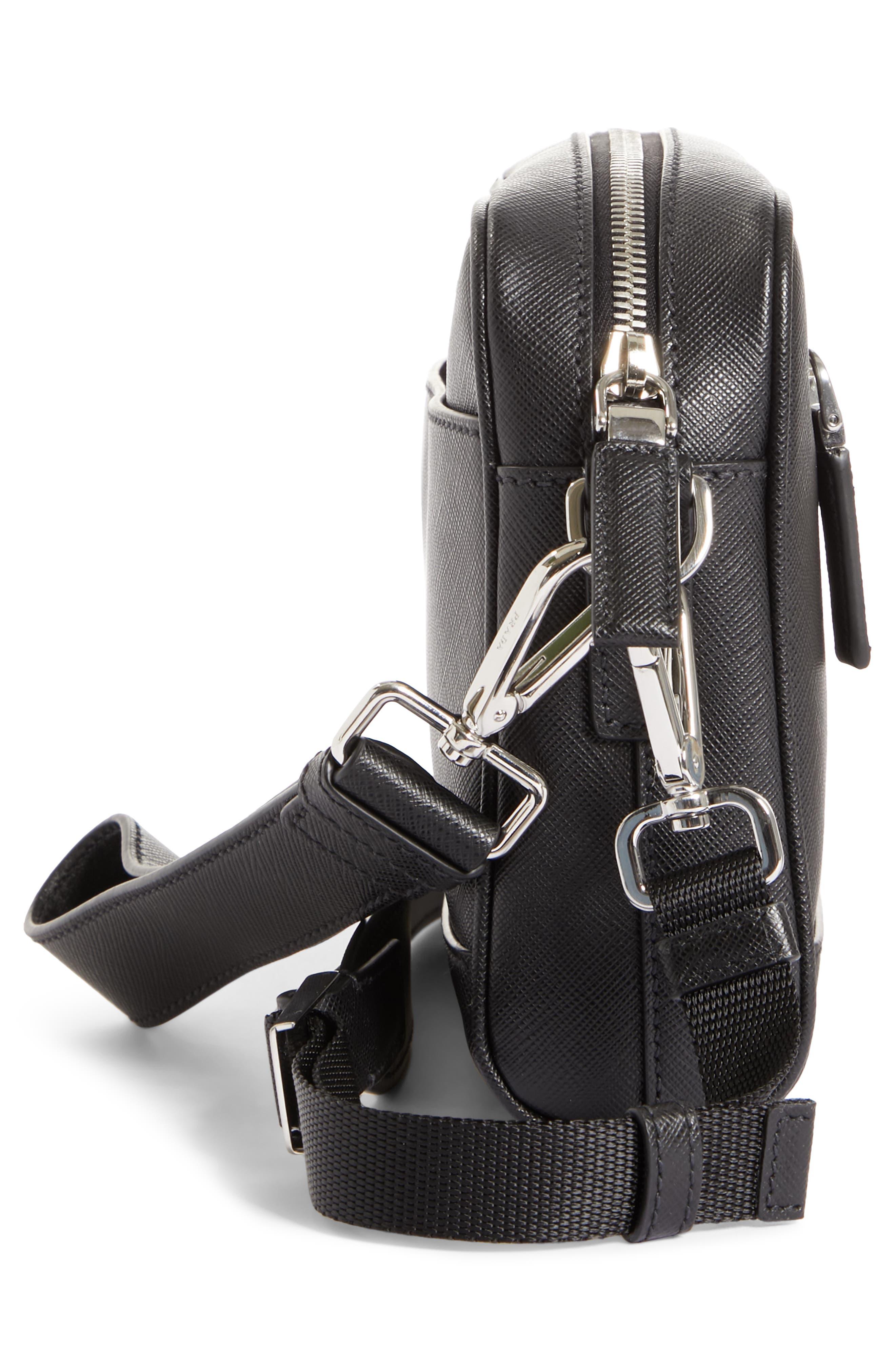 Saffiano Leather Travel Bag,                             Alternate thumbnail 5, color,                             001