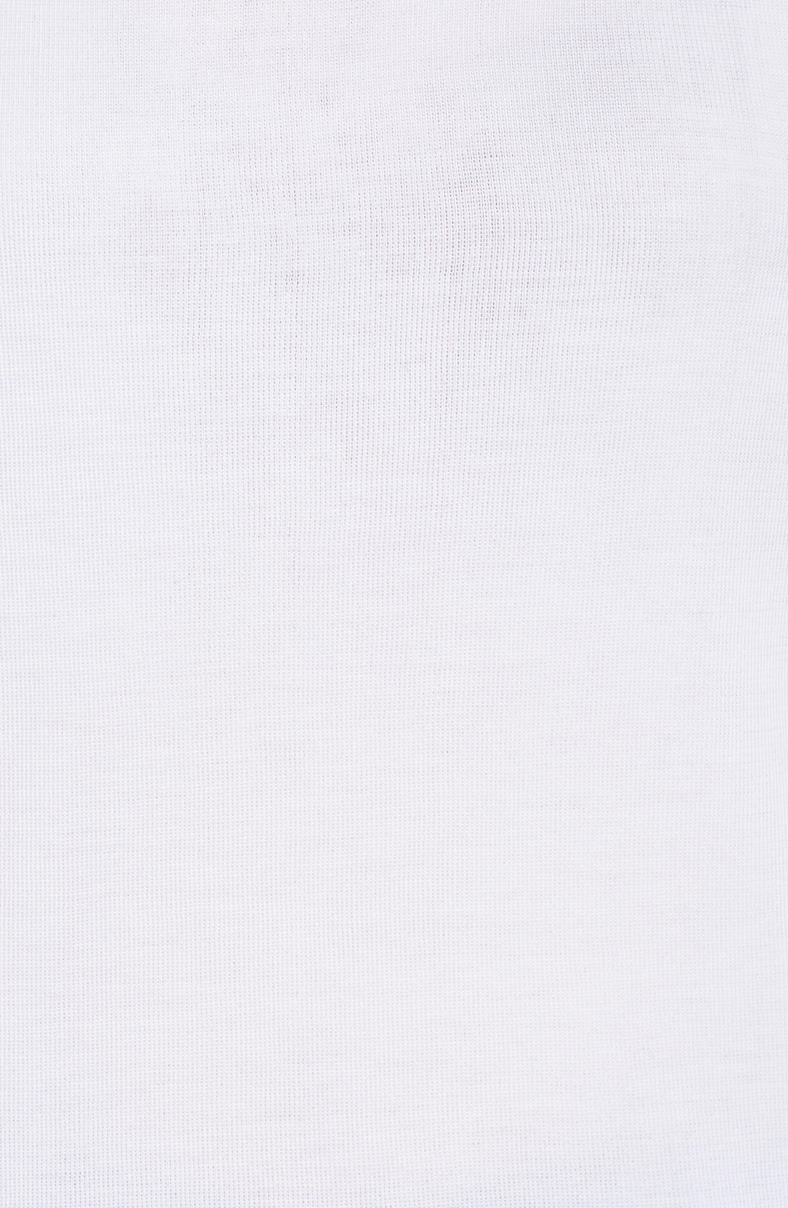 Herringbone Trim Tank,                             Alternate thumbnail 5, color,                             WHITE/ BLACK