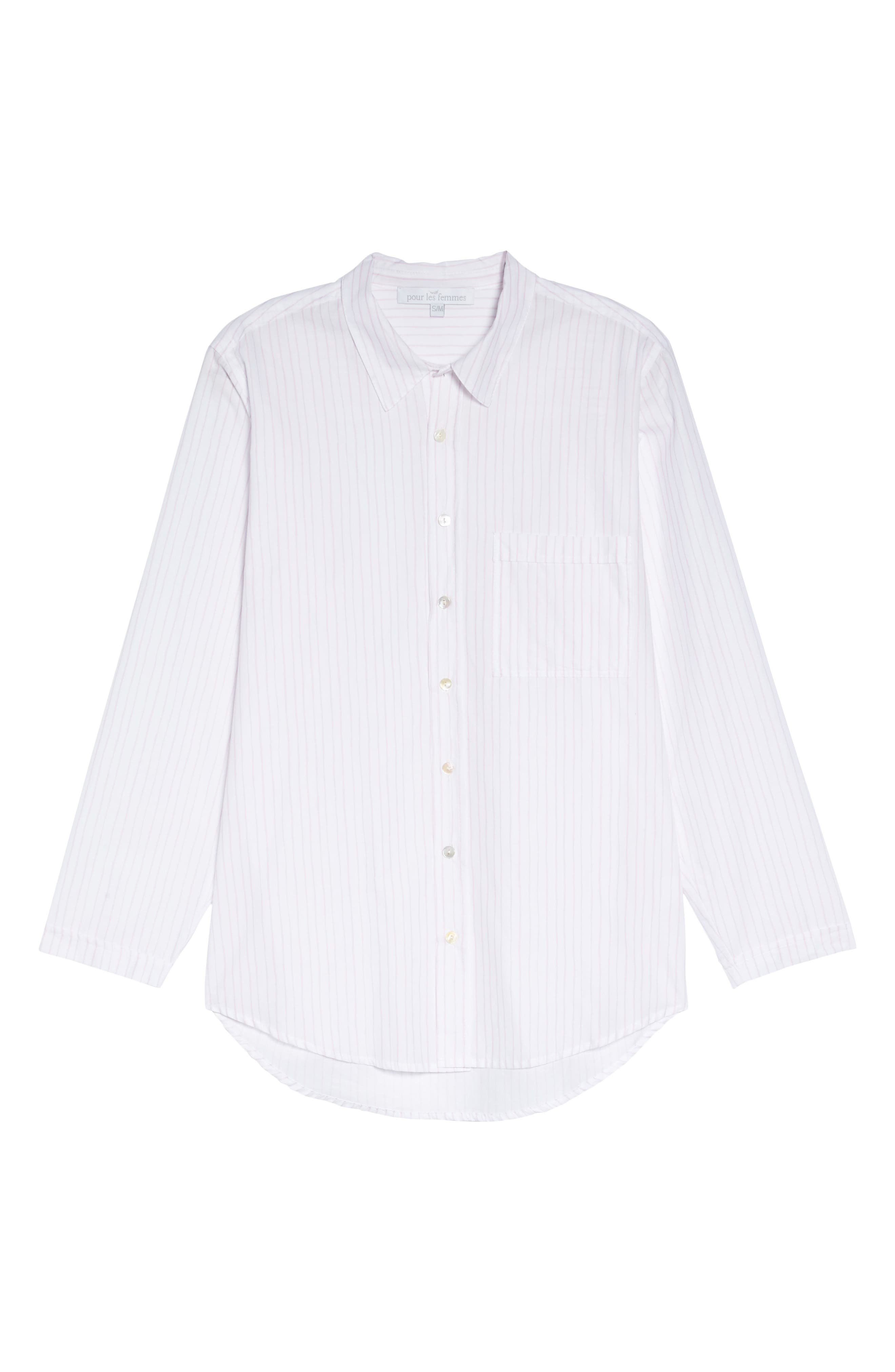 Pinstripe Boyfriend Sleep Shirt,                             Alternate thumbnail 12, color,
