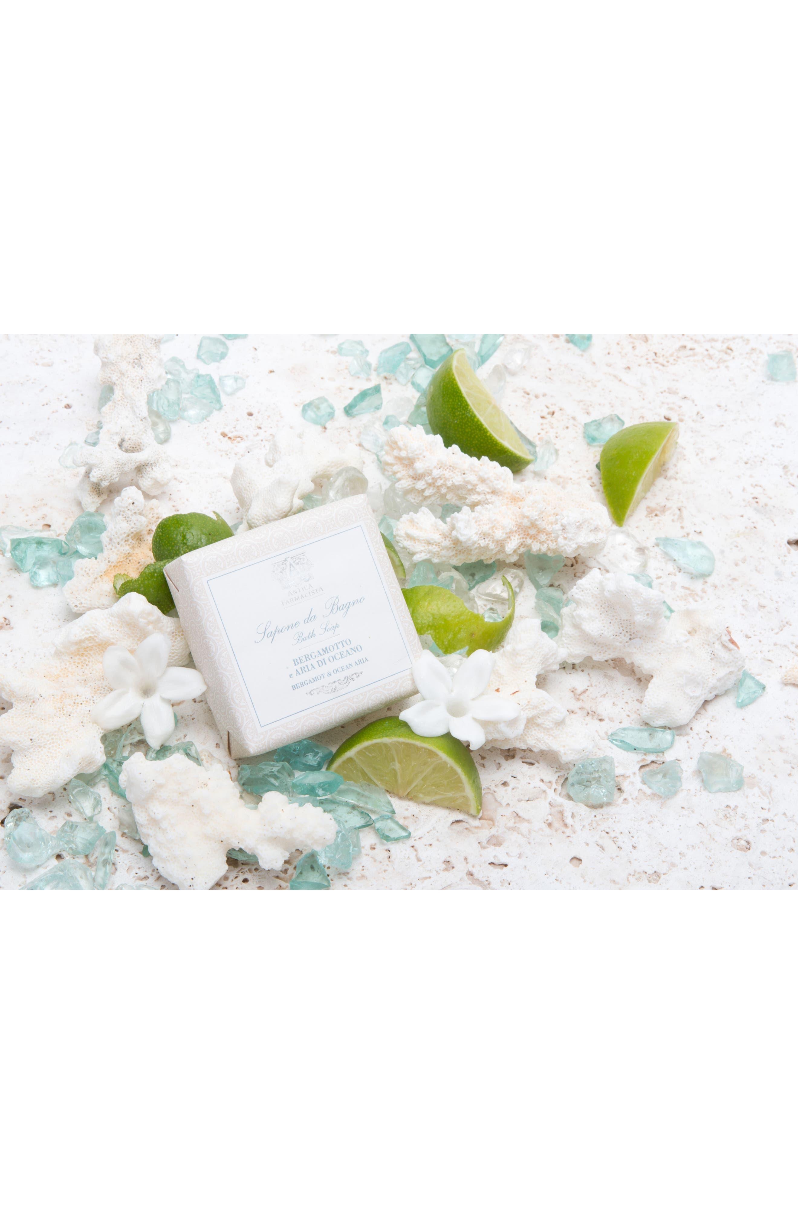 'Bergamot & Ocean Aria' Bar Soap,                             Alternate thumbnail 7, color,                             000