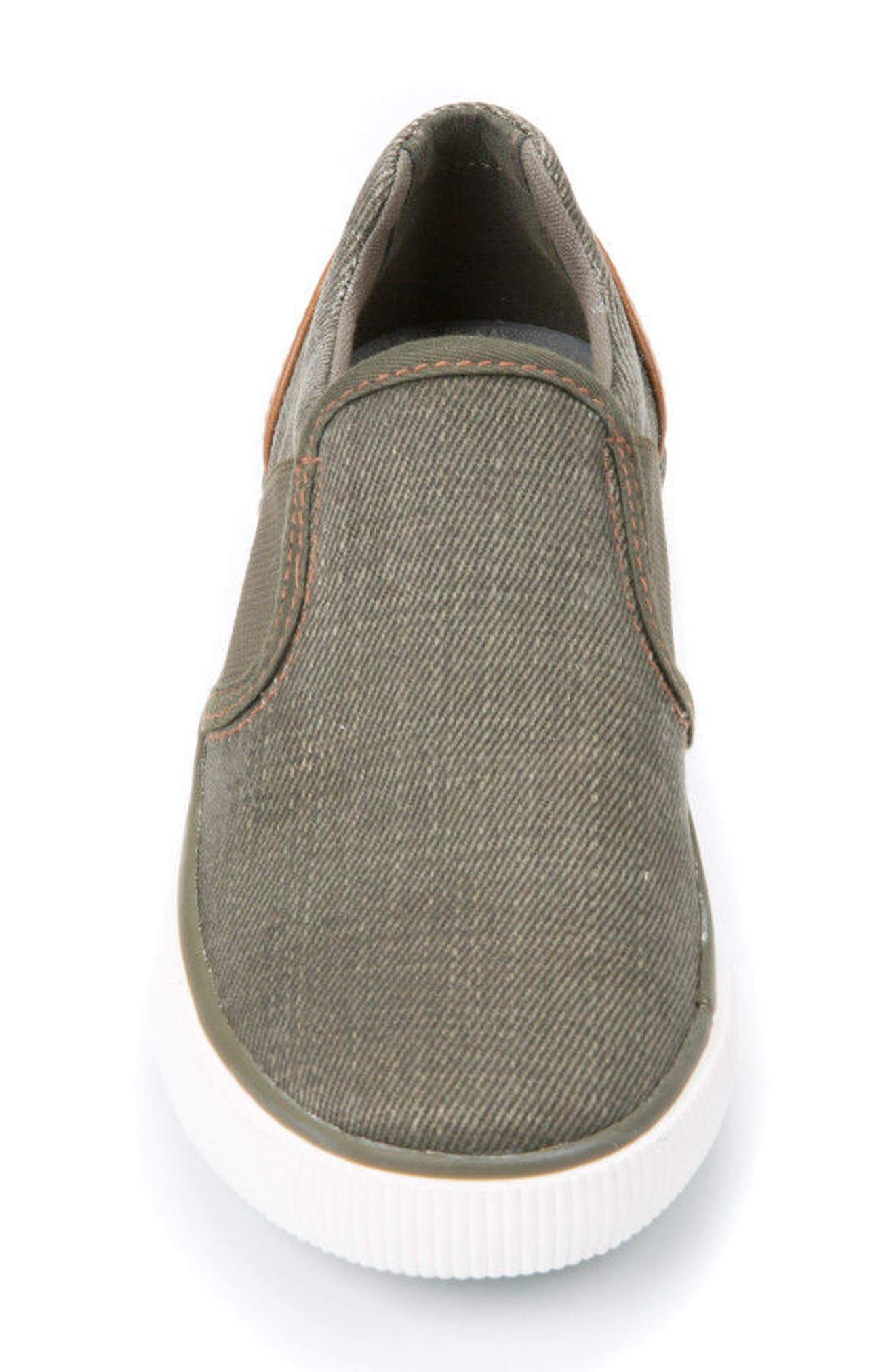 Kilwi Slip-On Sneaker,                             Alternate thumbnail 4, color,                             MILITARY/ LIGHT BROWN