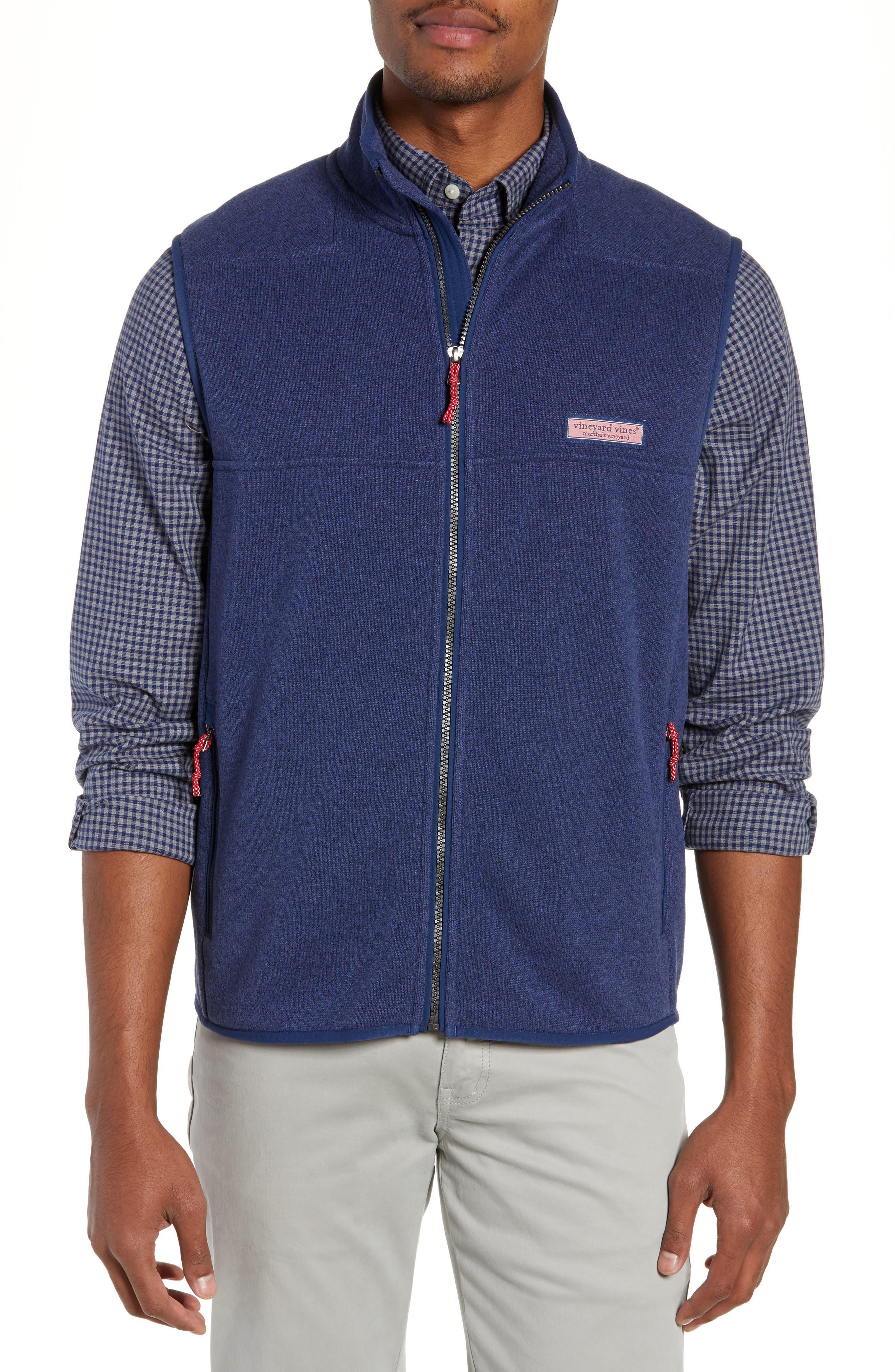 Fleece Vest,                             Main thumbnail 1, color,                             DEEP BAY