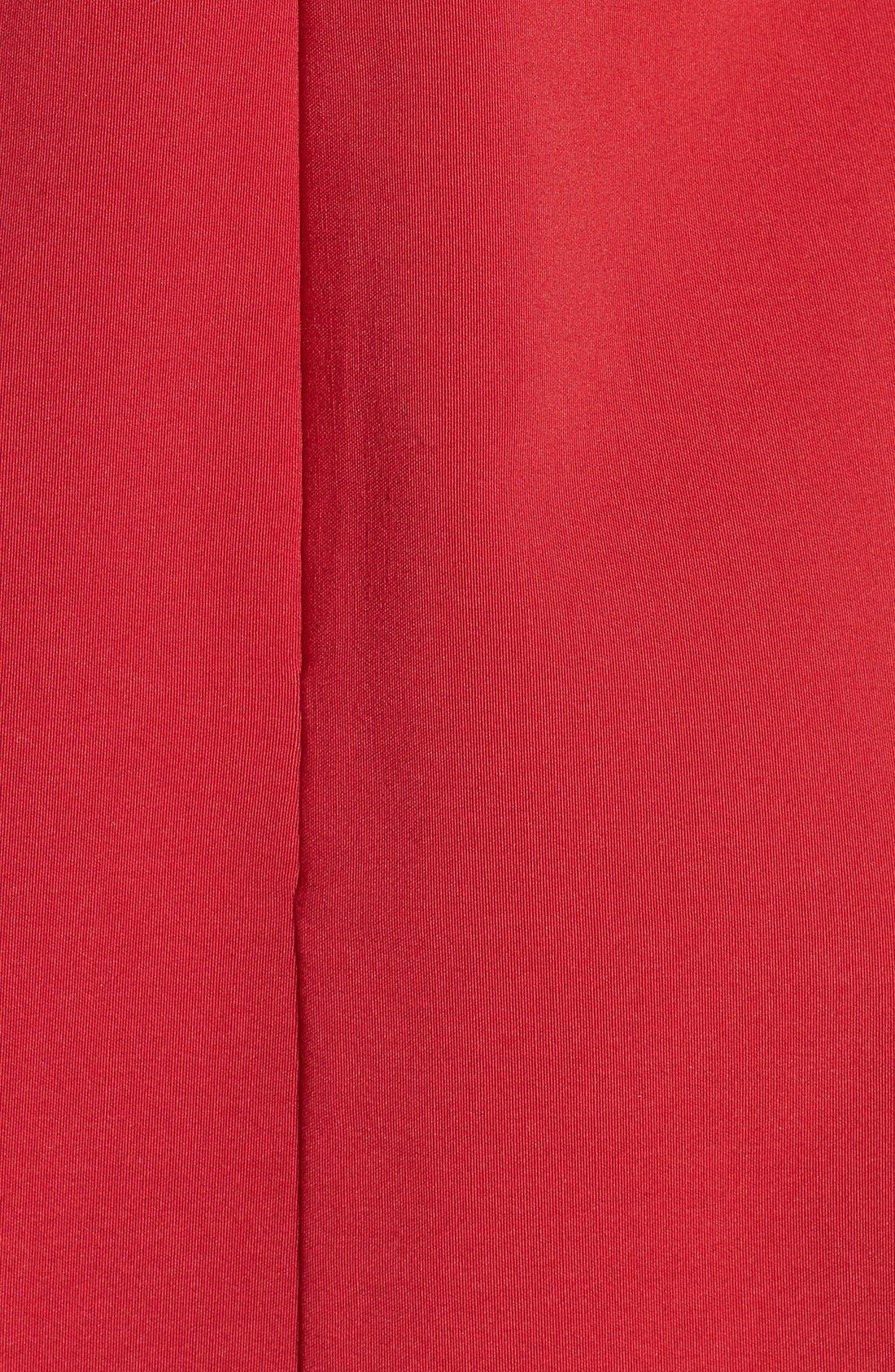 Scallop Trim Skater Dress,                             Alternate thumbnail 3, color,                             600