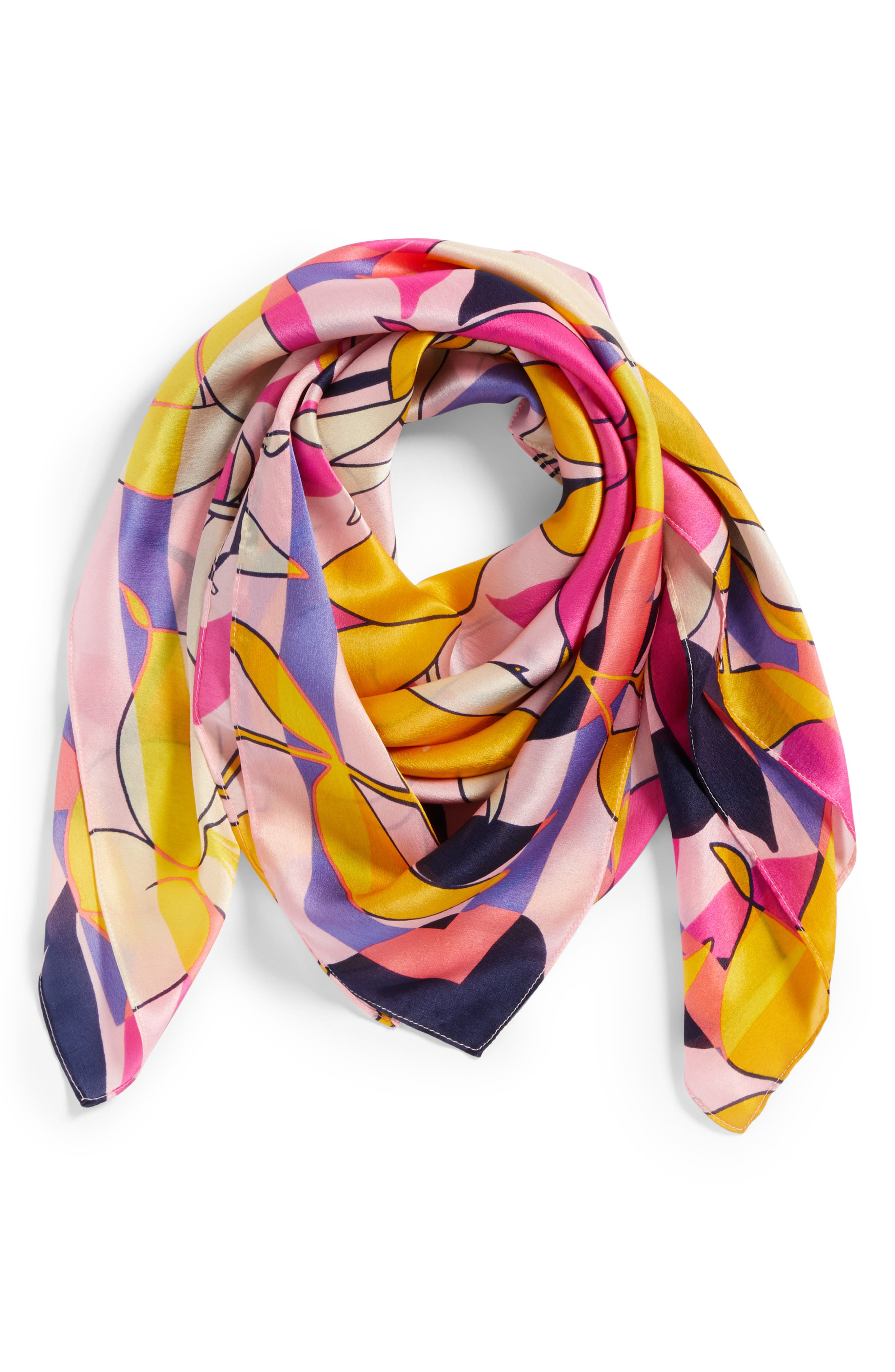 Print Silk Scarf,                             Alternate thumbnail 26, color,