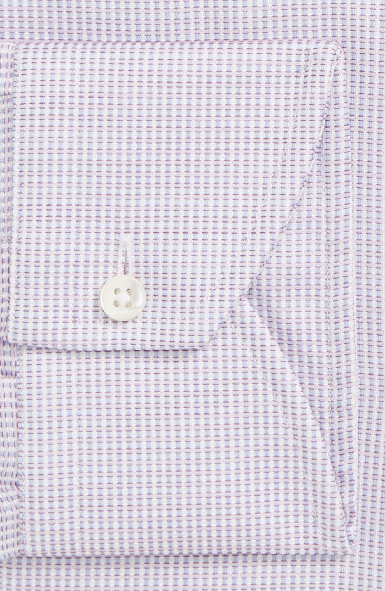 Regular Fit Stripe Dress Shirt,                             Alternate thumbnail 6, color,                             LIGHT PINK
