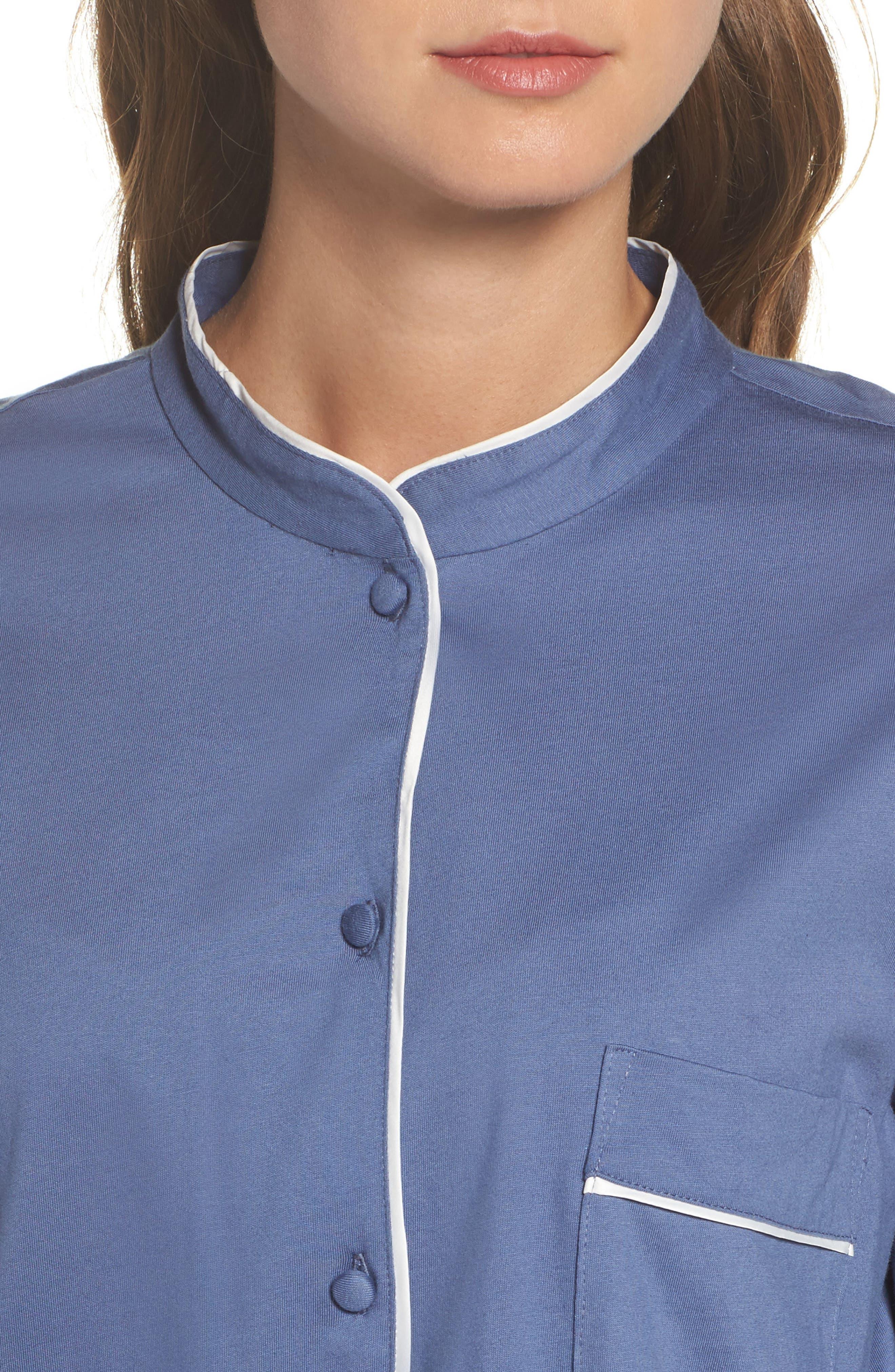 Bliss Supima<sup>®</sup> Cotton Sleep Shirt,                             Alternate thumbnail 4, color,