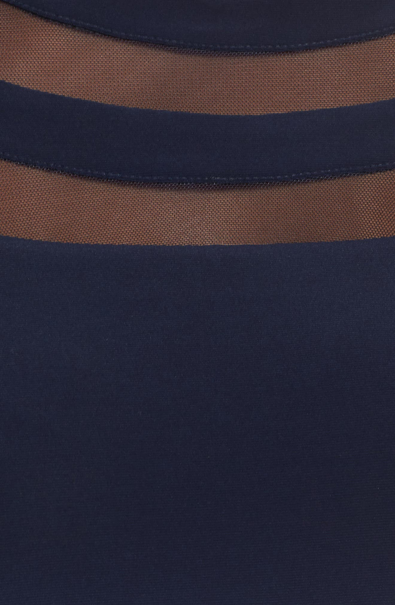 Shadow Stripe Flounce Hem Midi Dress,                             Alternate thumbnail 5, color,                             400
