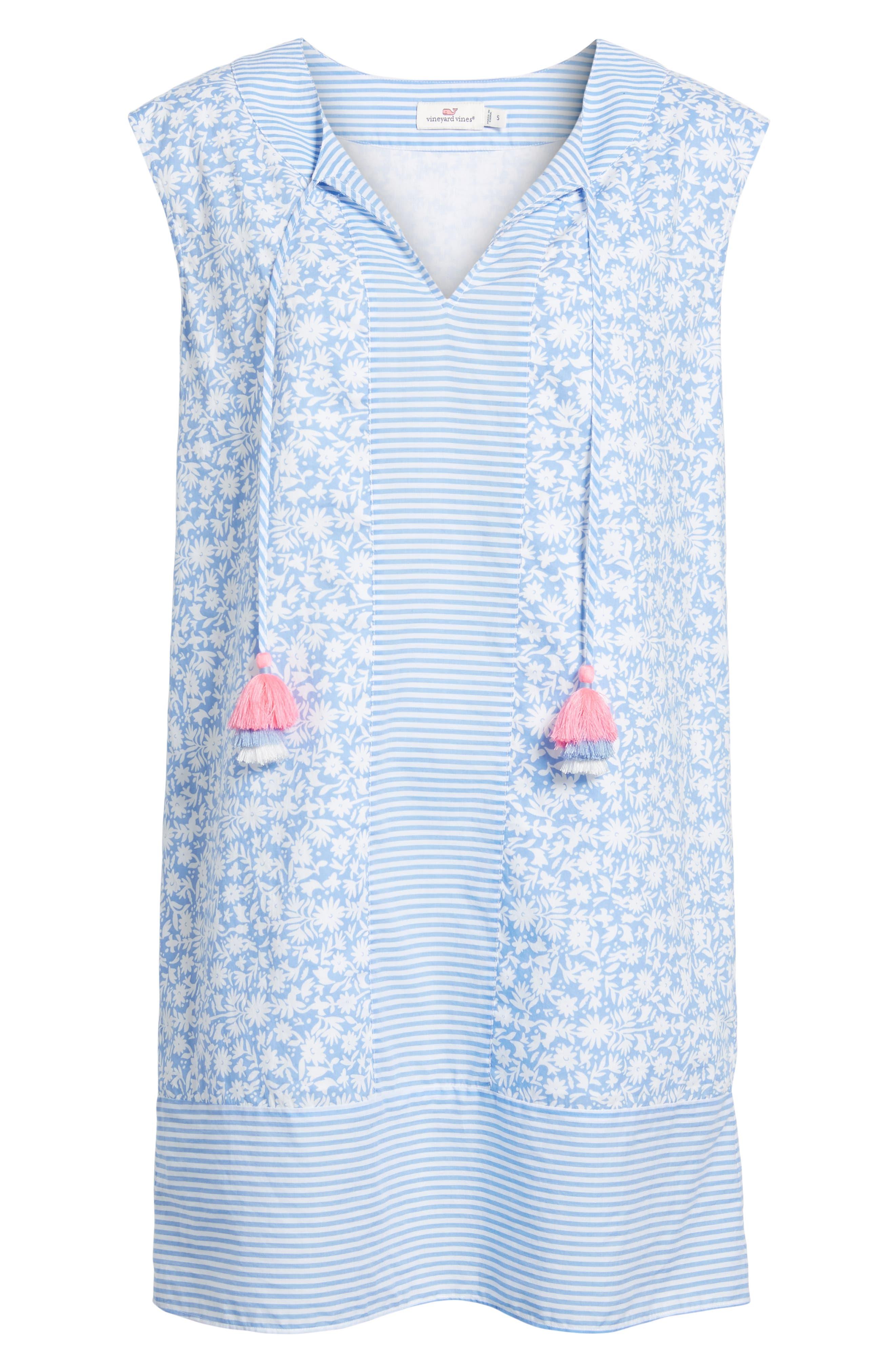 Somerset Tunic Dress,                             Alternate thumbnail 7, color,                             HYDRANGEA