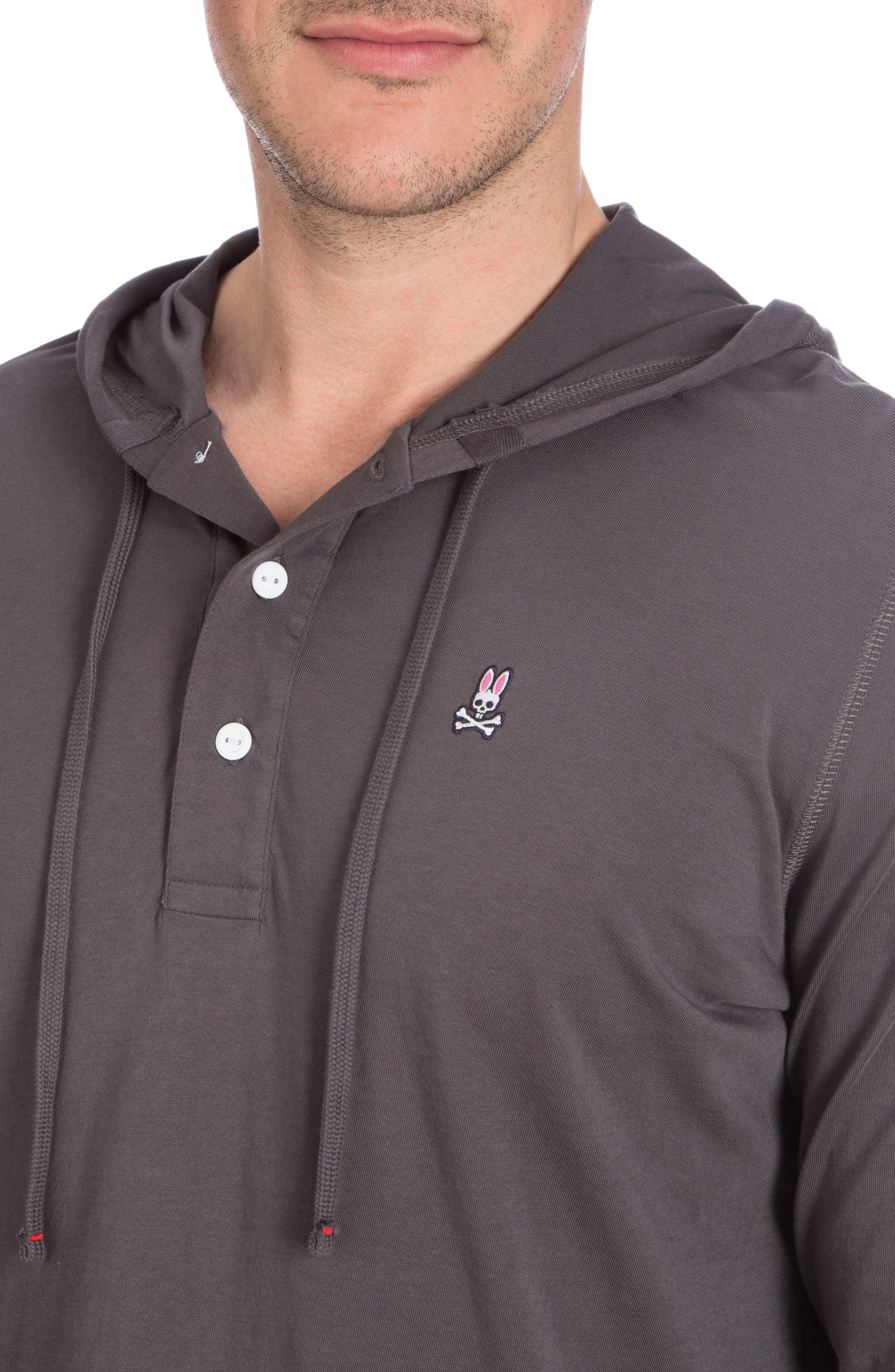 Delano Henley Hoodie,                             Alternate thumbnail 3, color,                             003